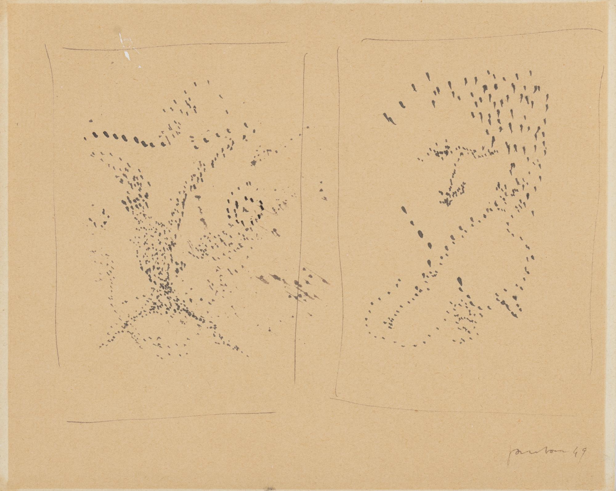 Disegno piccolo bianco e nero, 1949