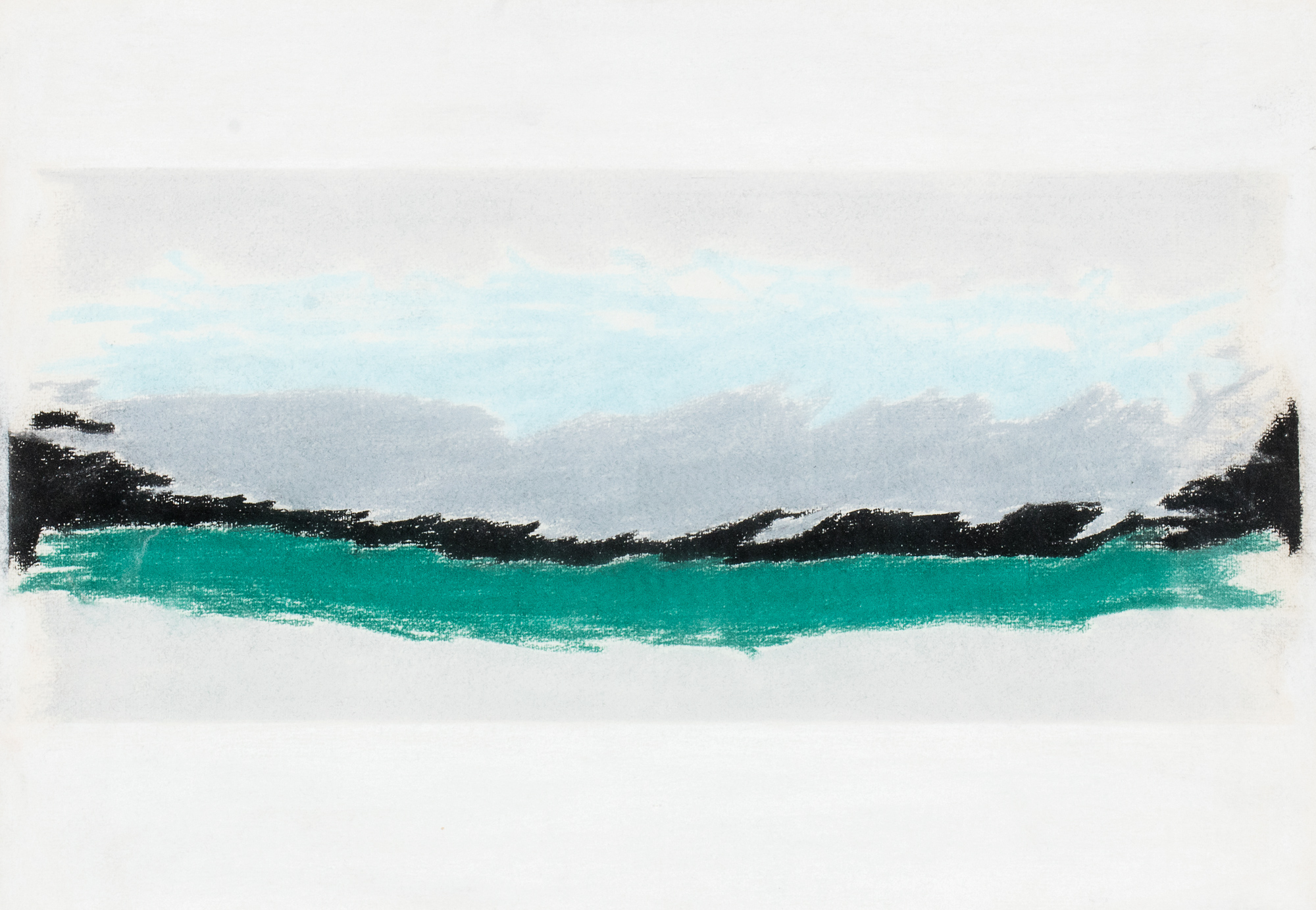 Verde, grigio e azzurro