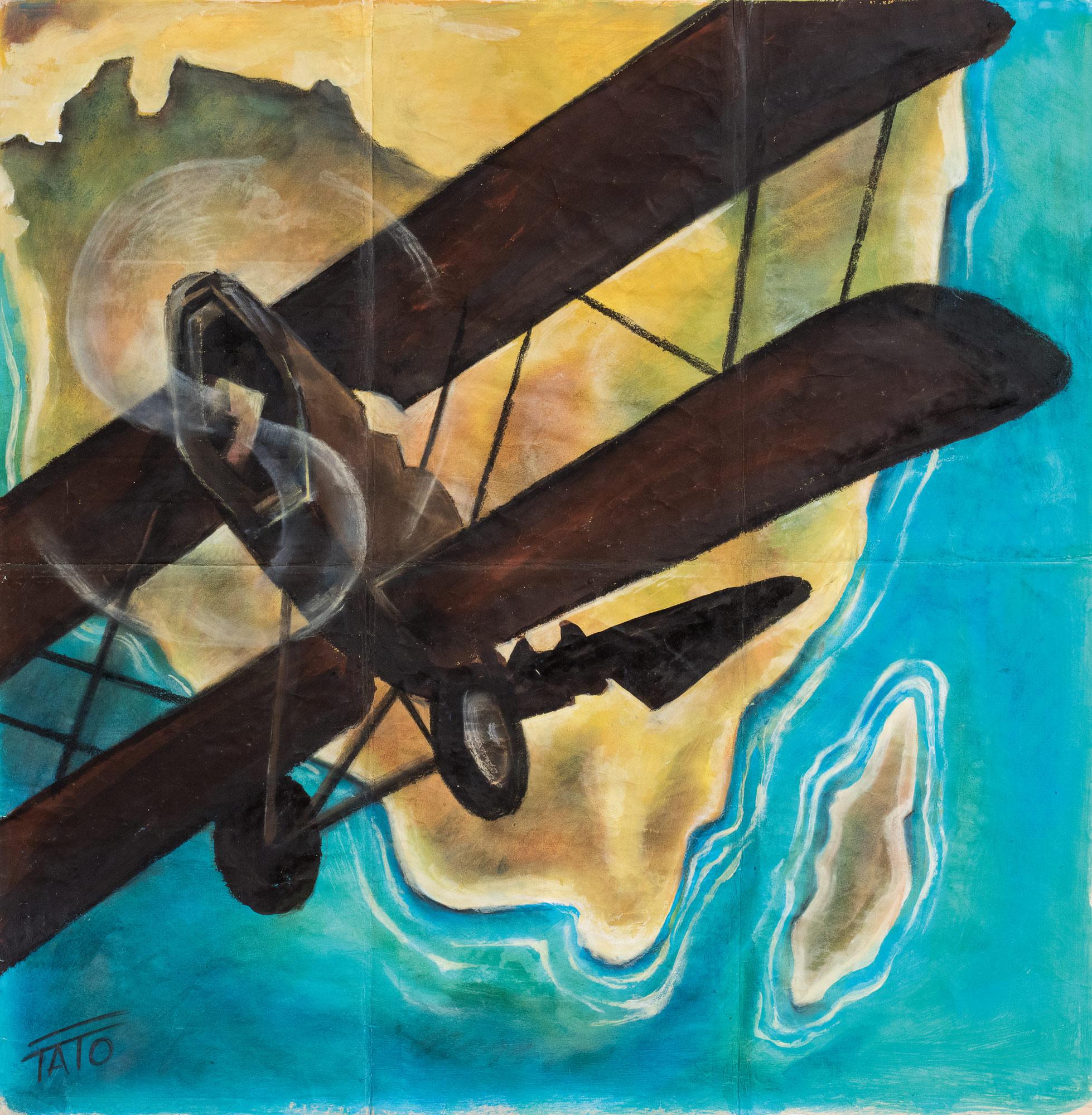 Caproni 100 in virata, 1930