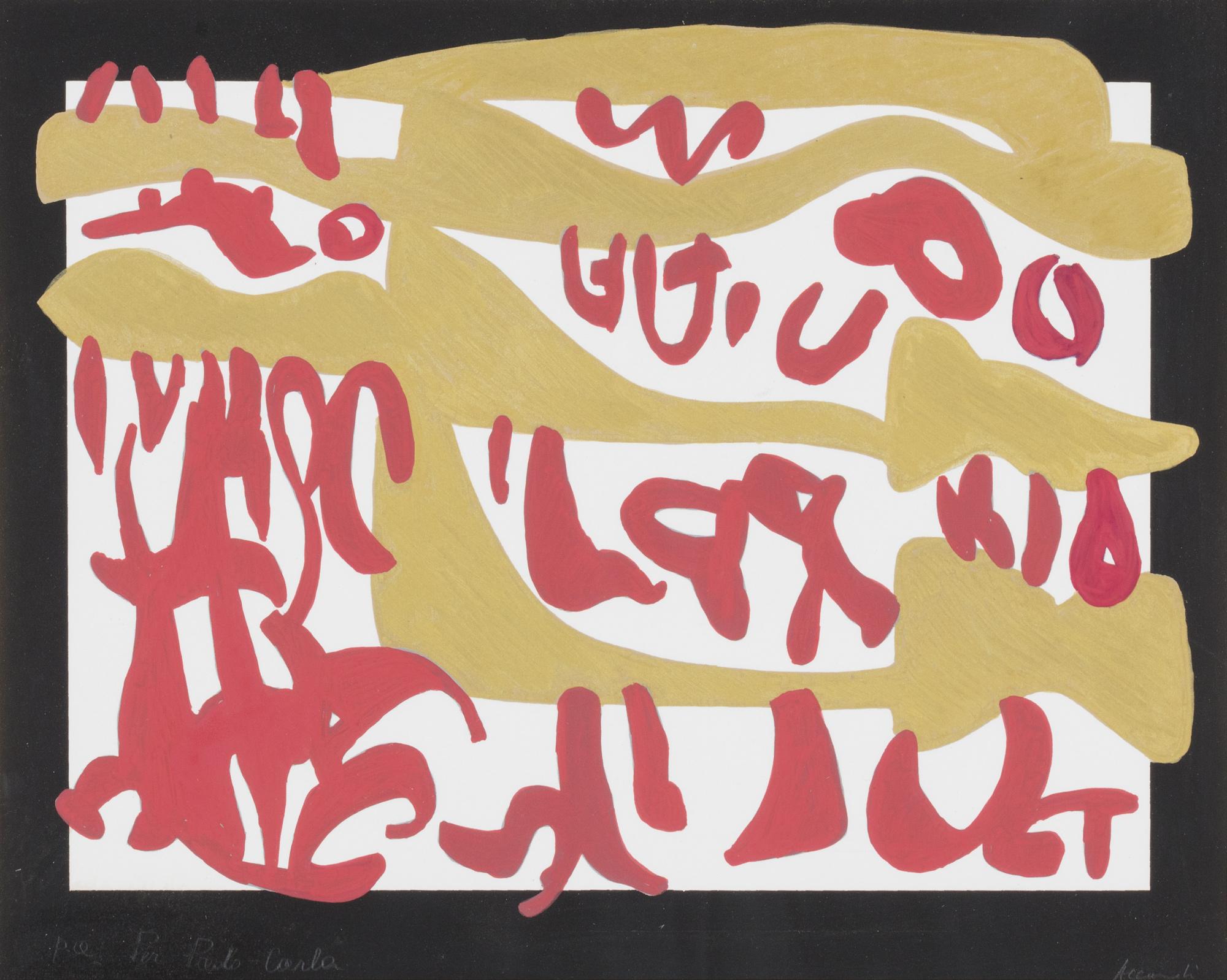 Composizione rosso e oro, 1997