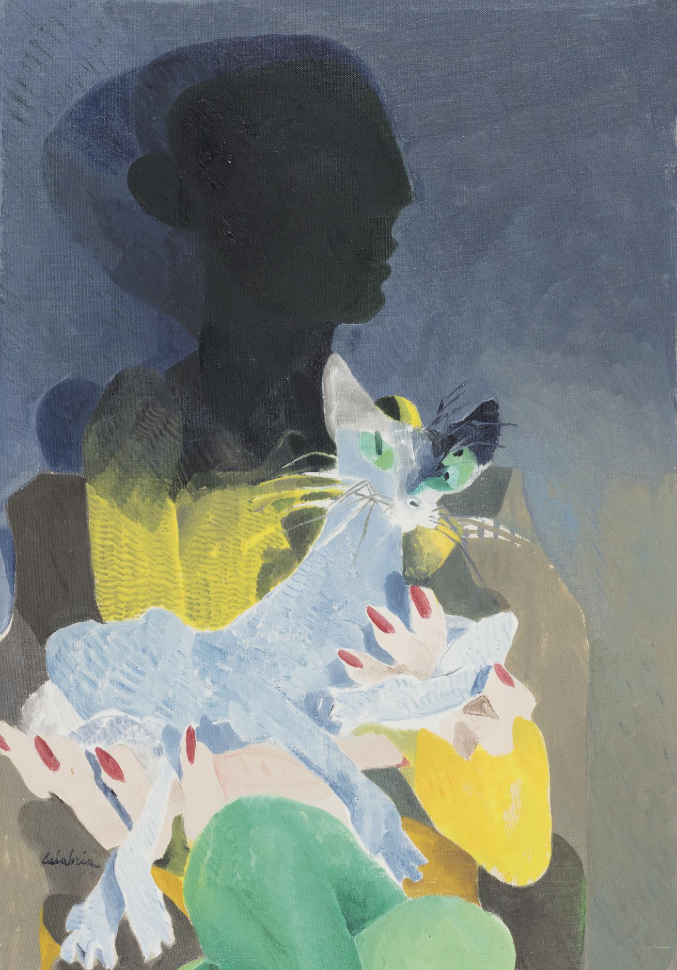 Donna con gatto, 1969