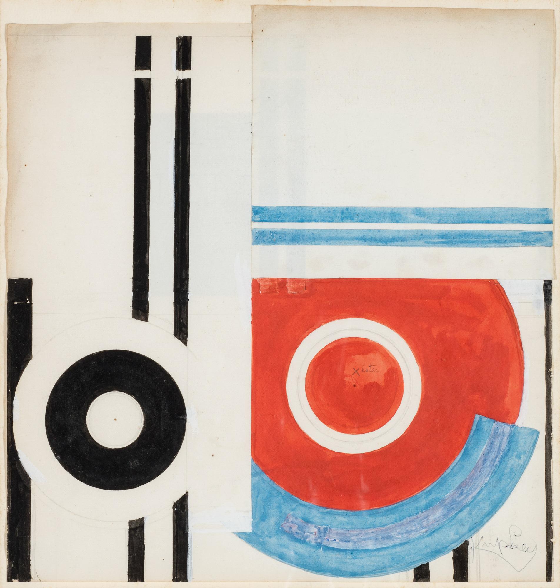 Disques et traits noir, 1932