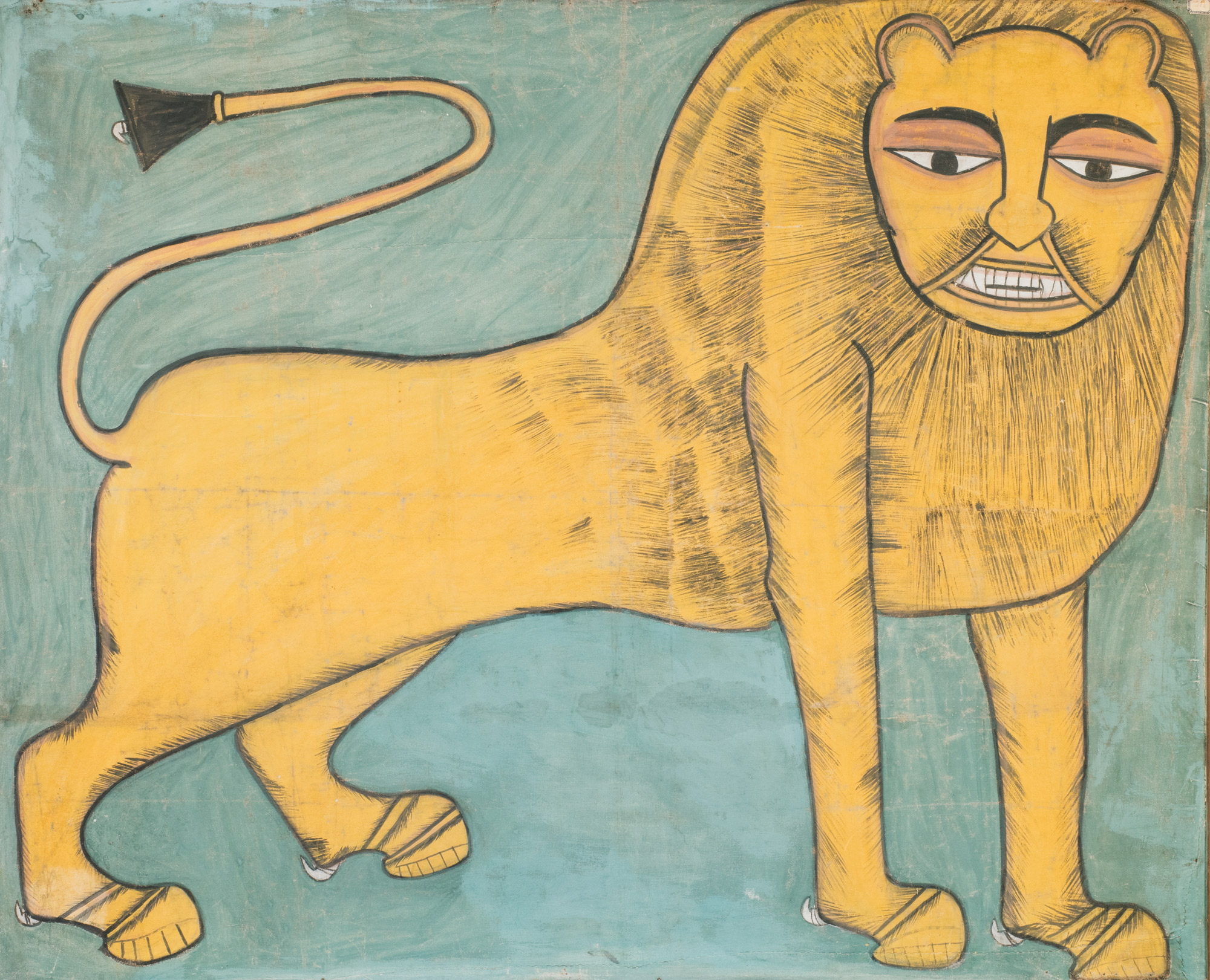 abyssinian painting, tempera on canvas; from Eritrea colony, 157 x 130 cm each