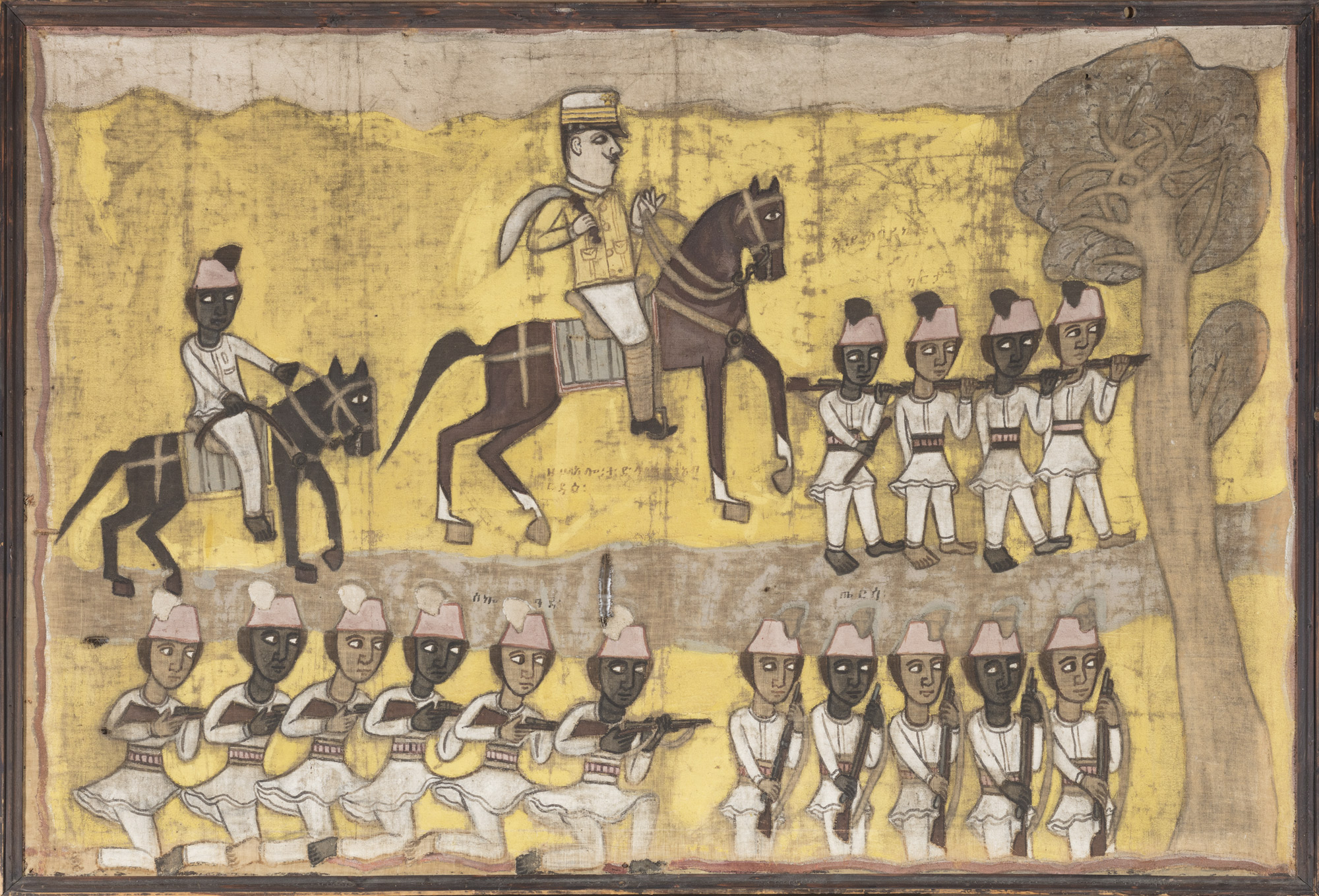 abyssinian painting, tempera on canvas, 80 x 122 cm