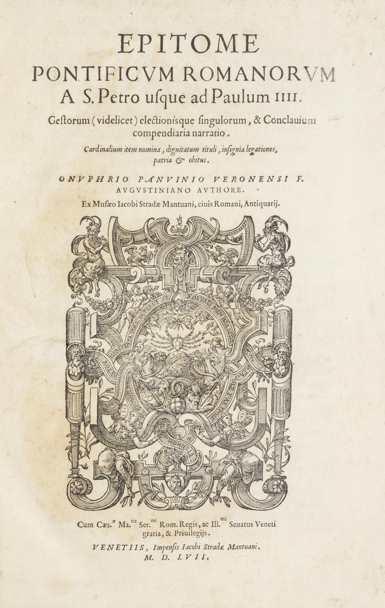 Epitome Pontificum Romanorum a S. Petro usque ad Paulum IIII