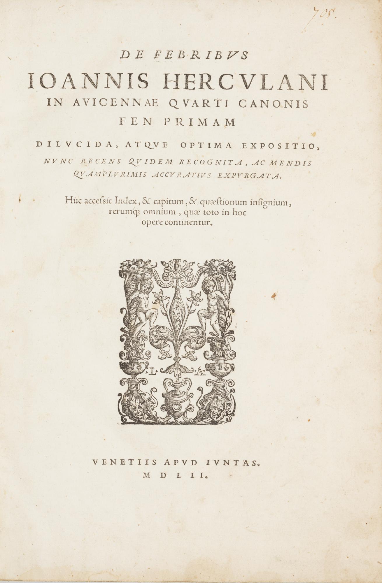 De febribus. In Avicennae quarti canonis fen primam dilucida, atque optima expositio