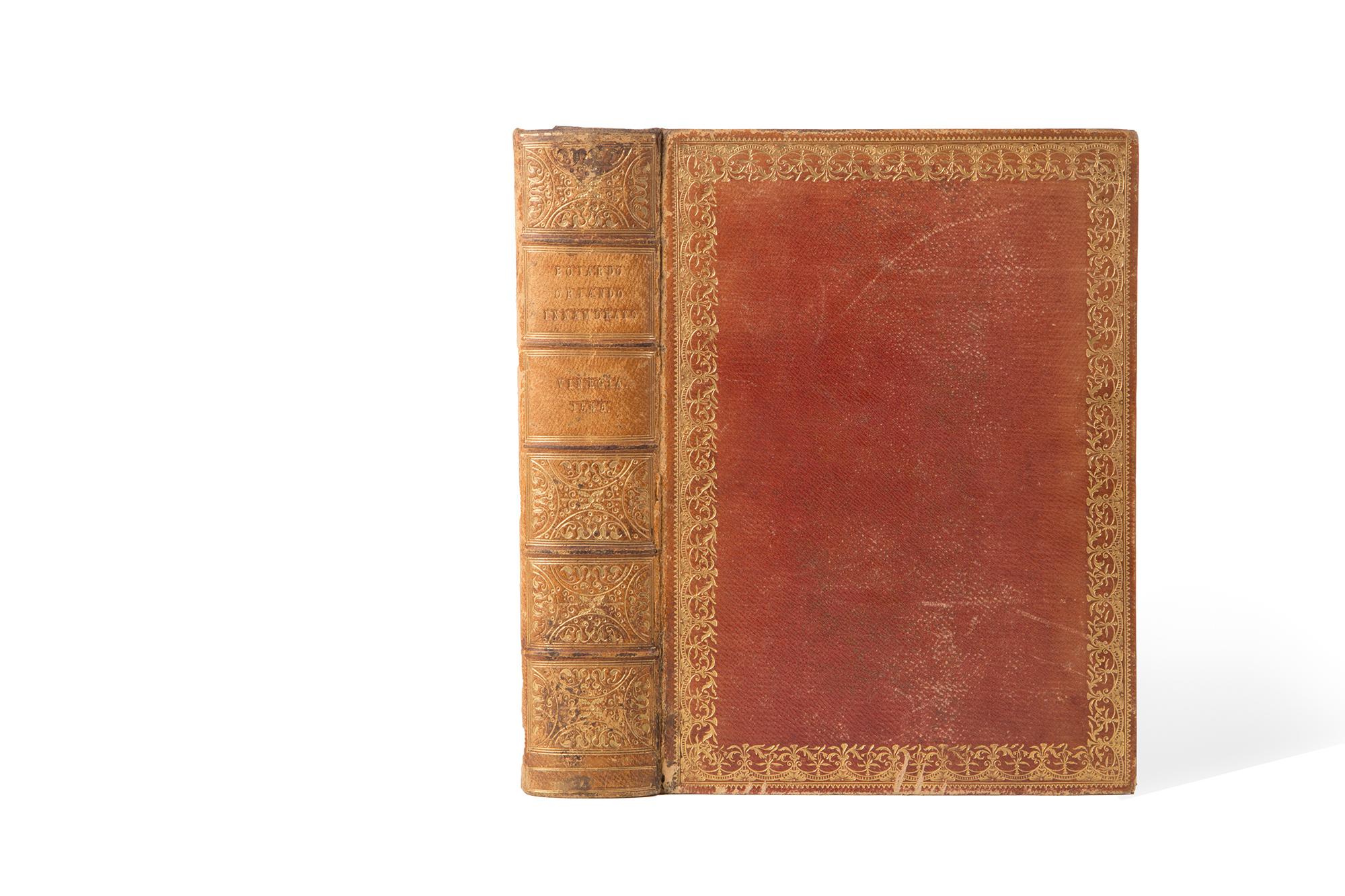Orlando innamorato del signor Matteo Maria Boiardo conte di Scandiano insieme co i tre libri di Nicolo de gli Agostini, nuouamente riformato per Lodouico Domenichi, con gli argomenti, le figure accomodate al principio d'ogni canto, & la tauola di cio, che nell'opra si contiene