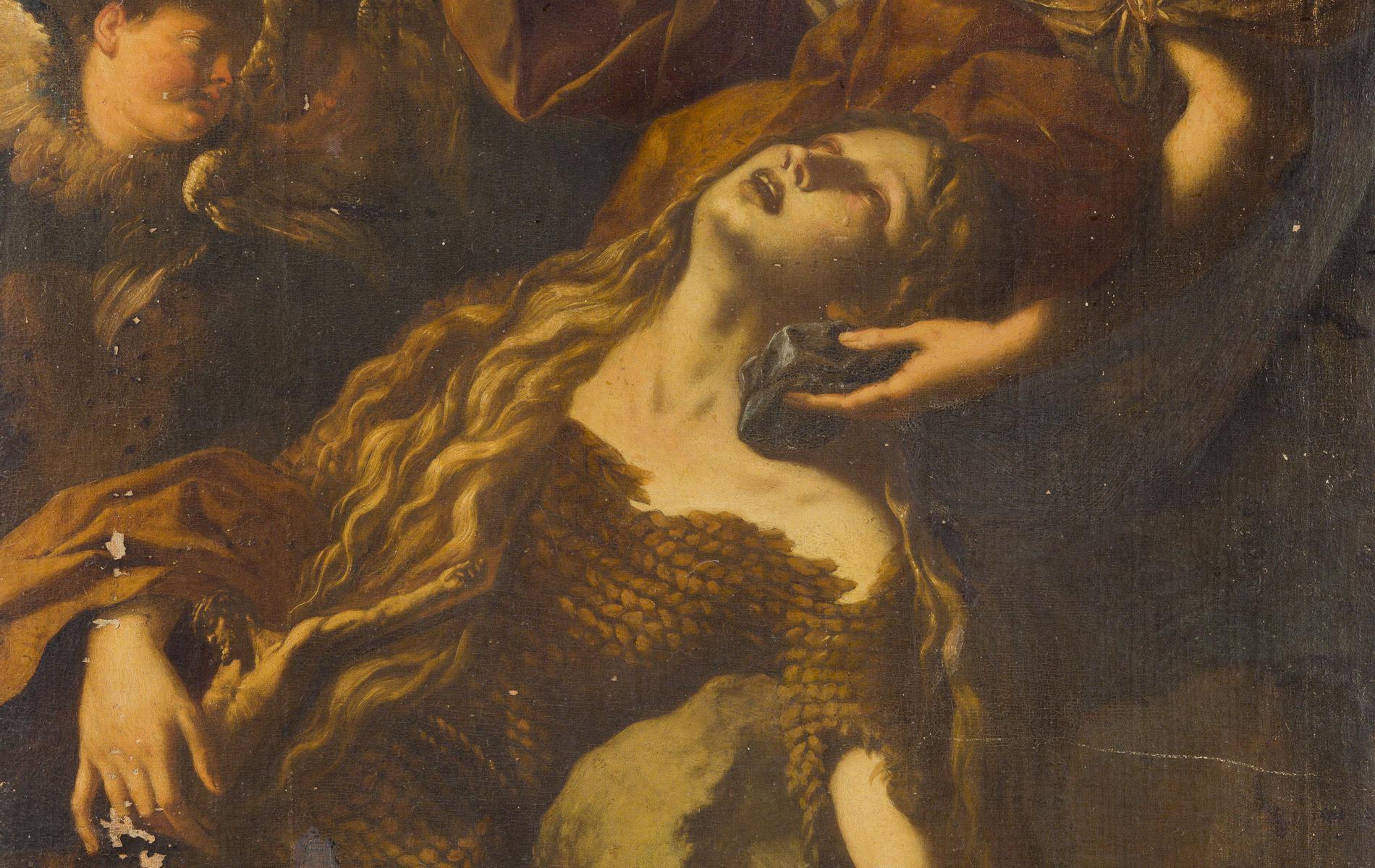 Santa Maria egiziaca in estasi, sostenuta da un angelo