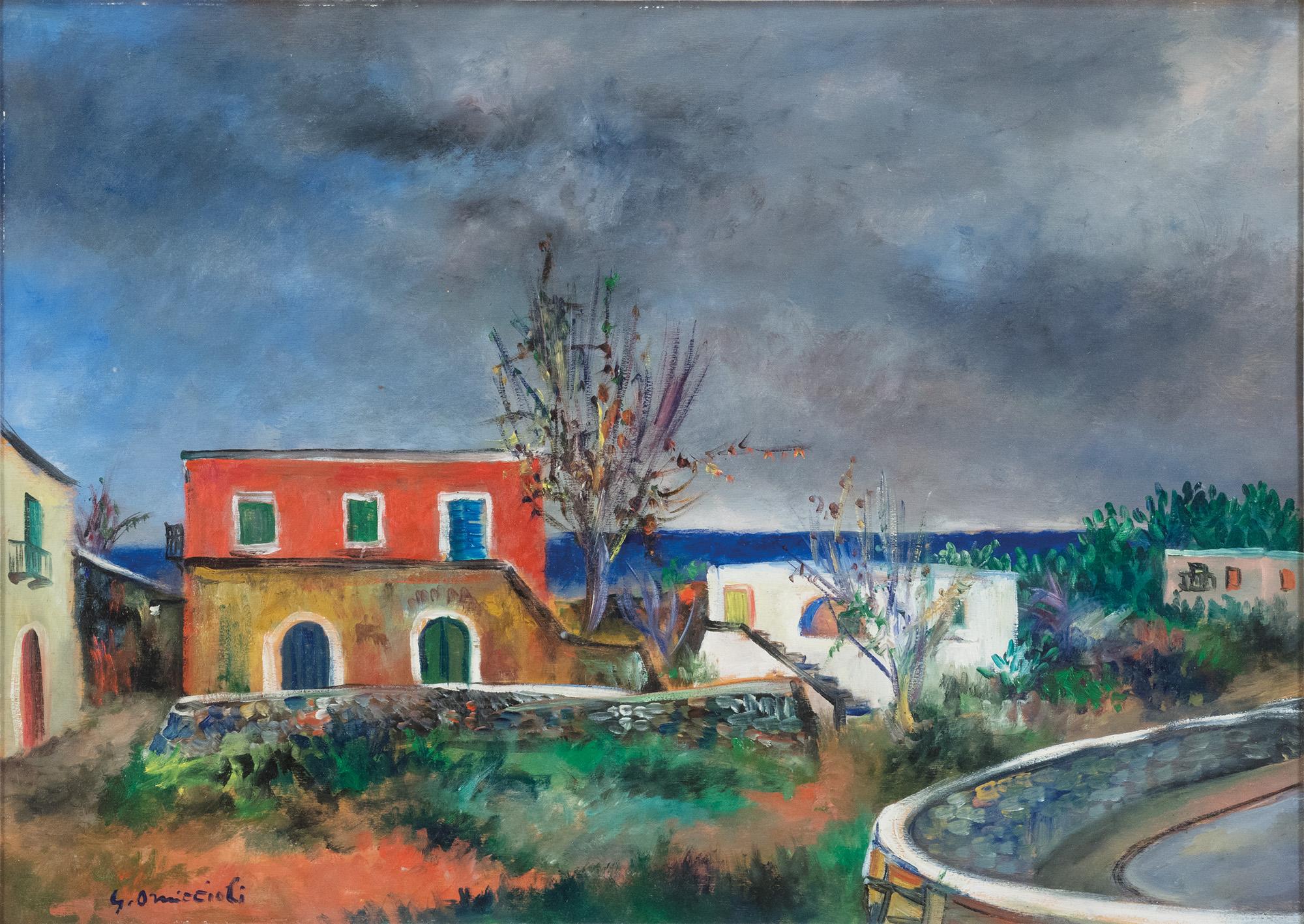 Casa bianca e casa rossa ad Ischia, 1956/'57