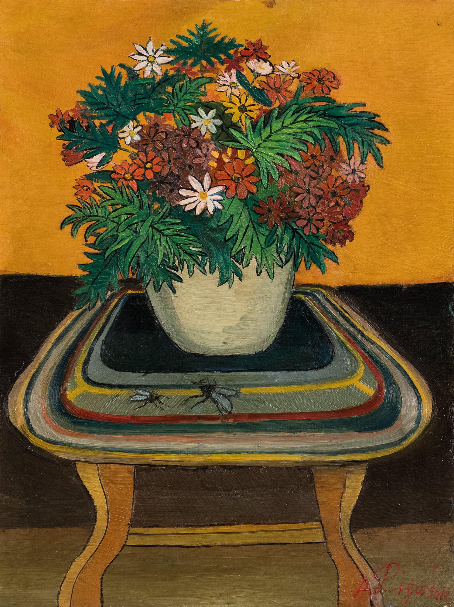 Interno con fiori, 1960/61