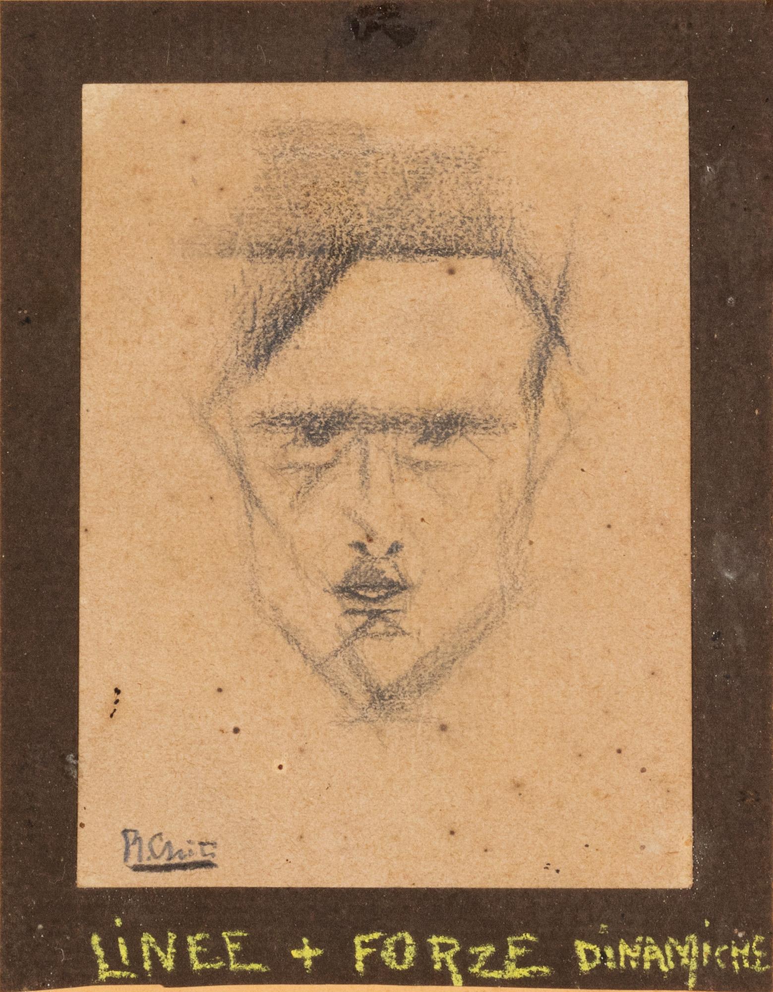 Ritratto di Vasco Battistoni, Linee + forze dinamische, 1916/'17