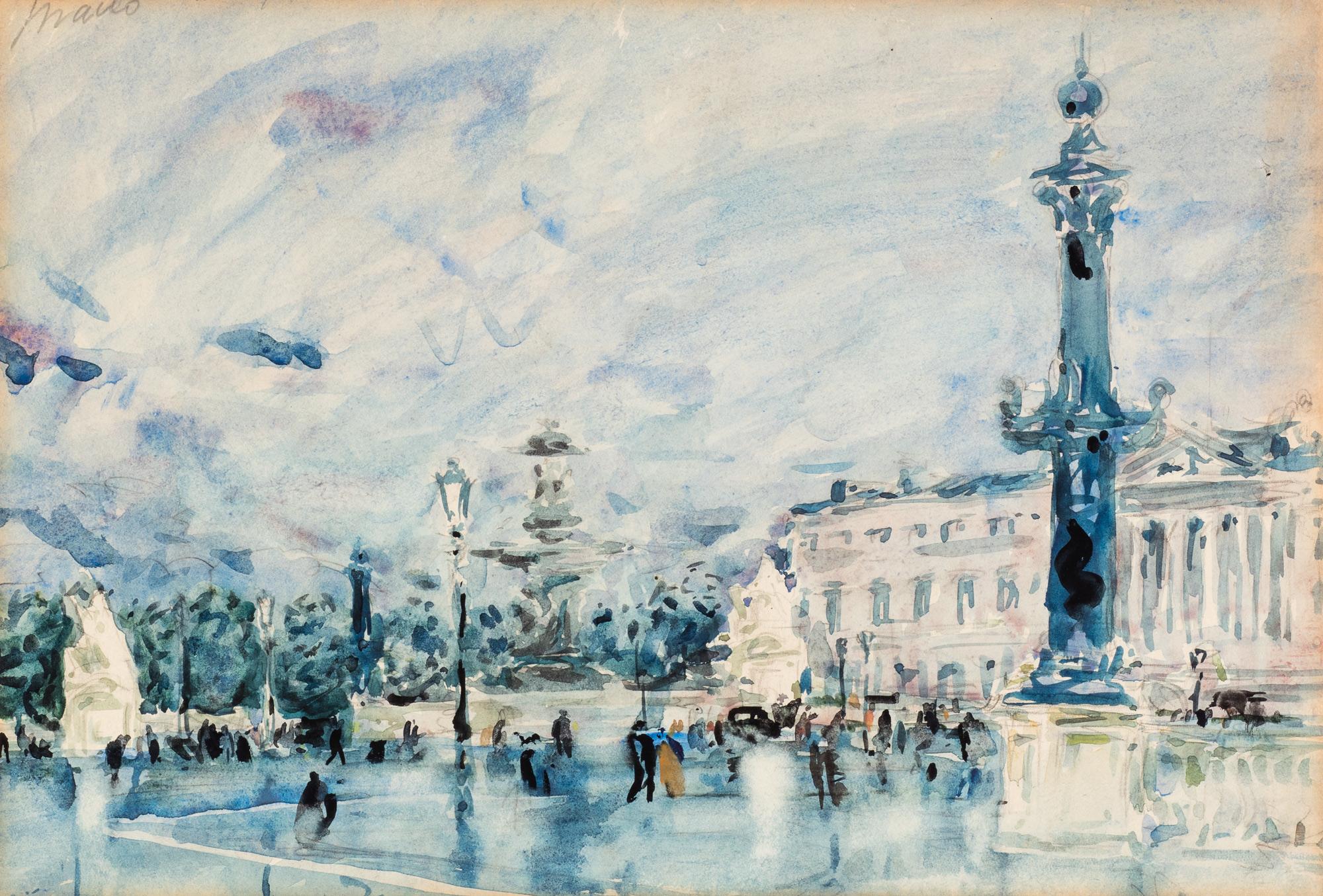 Piazza a Parigi, 1936 ca.
