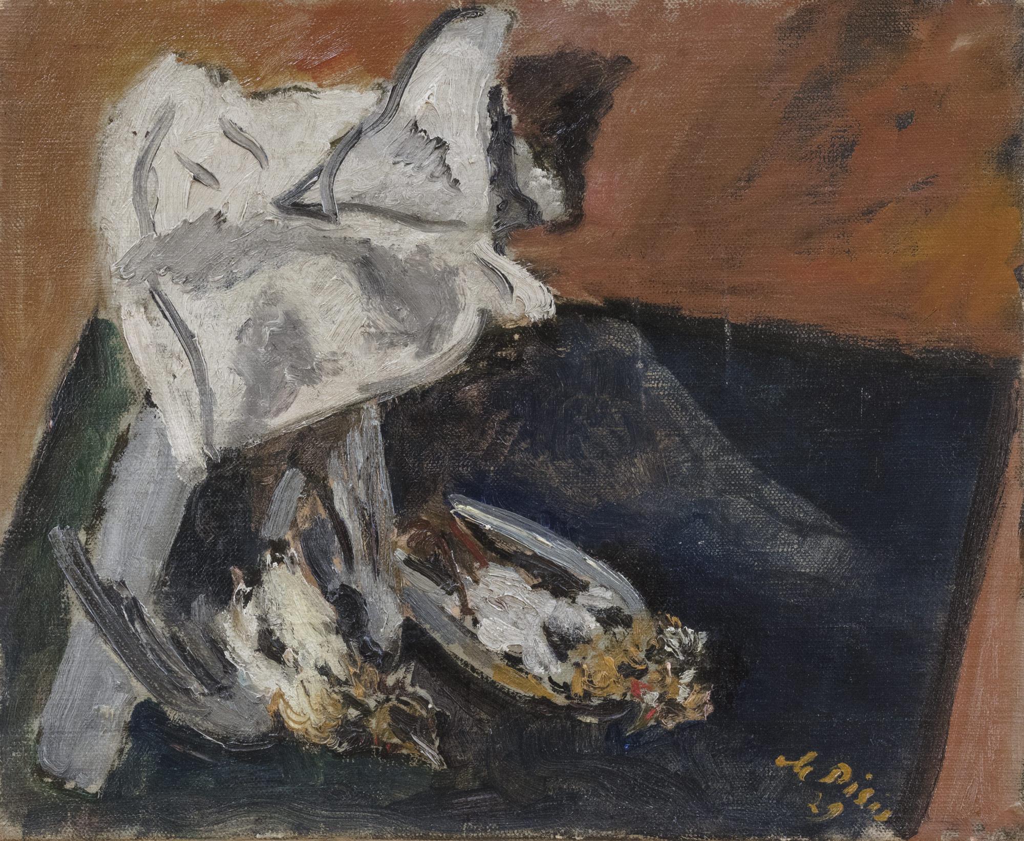 Natura morta con uccelli, 1929