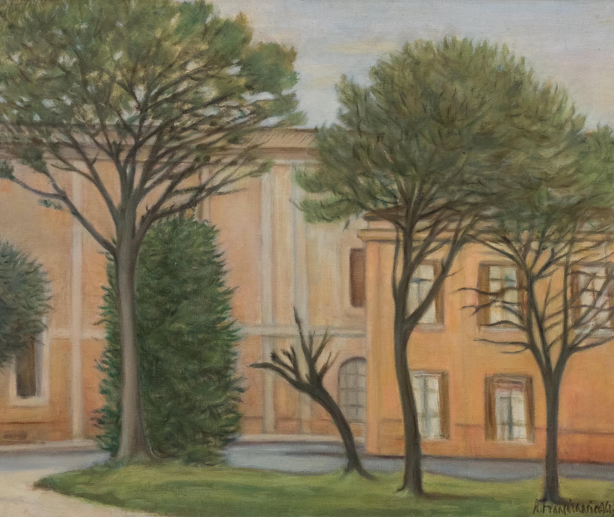 Casa con alberi, 1961