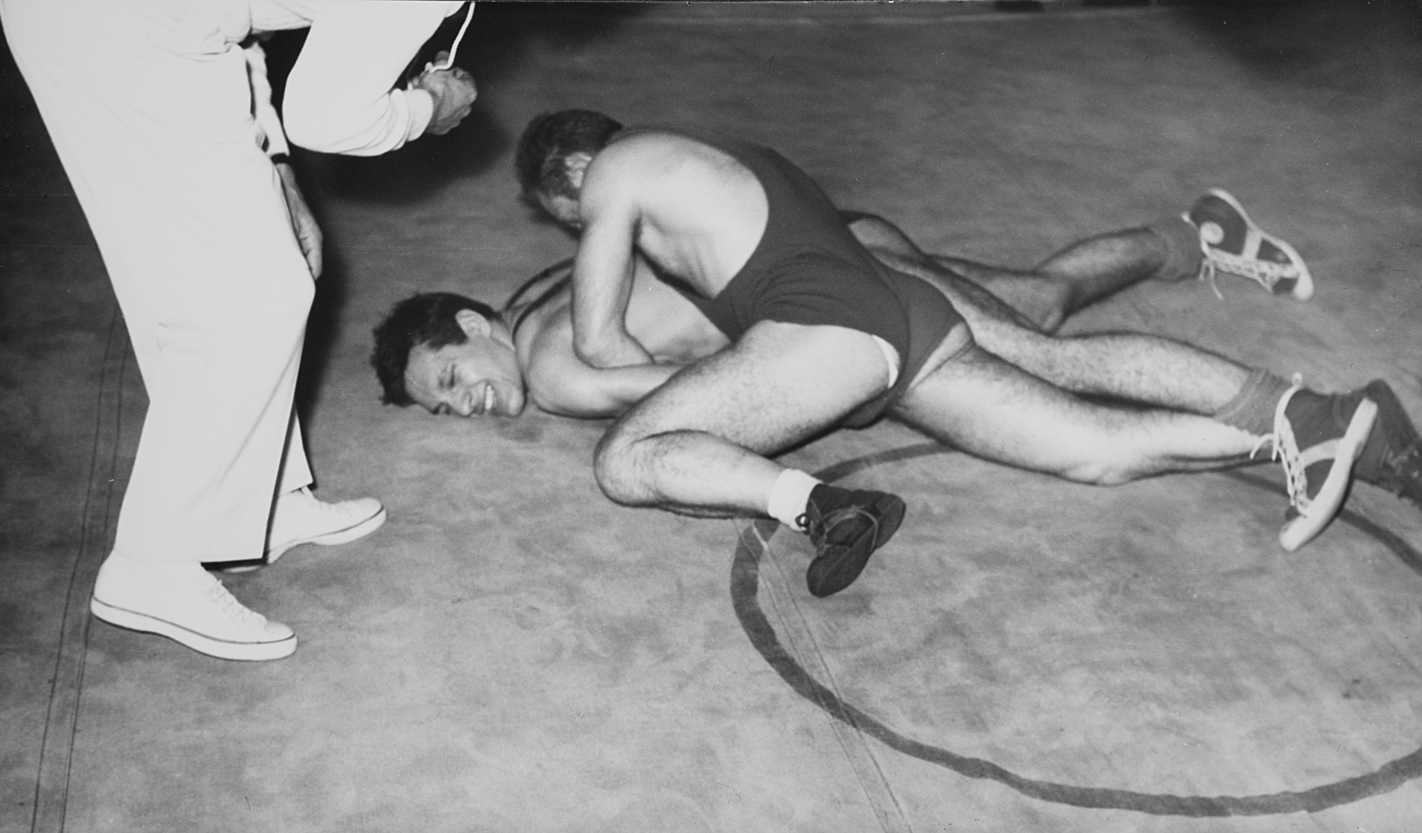 Difesa di terra e presa di manichetto e cintura, anni 1960