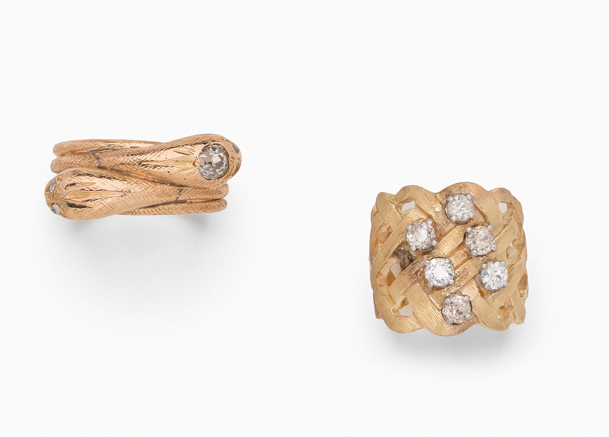 in oro e diamanti