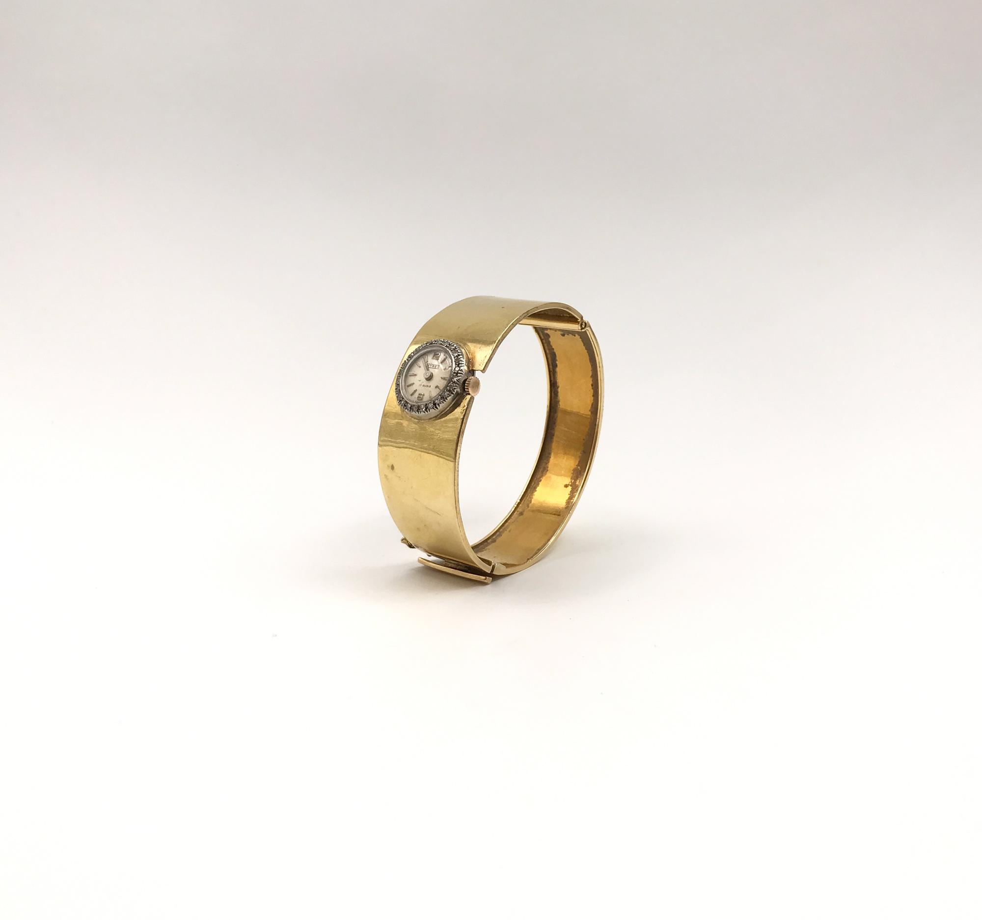in oro bicolore e diamanti
