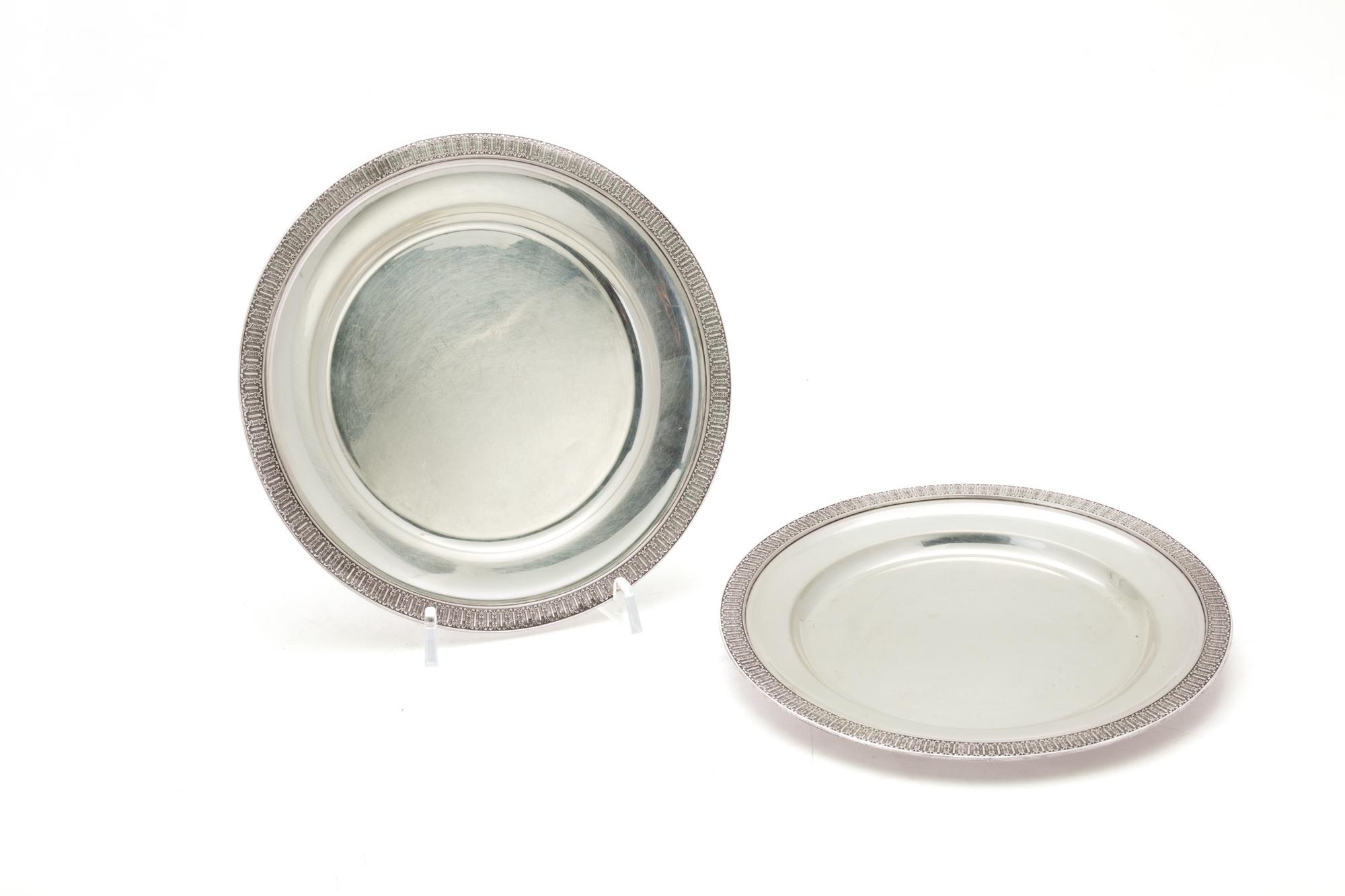 ventitré piattini in argento, Italia XX secolo