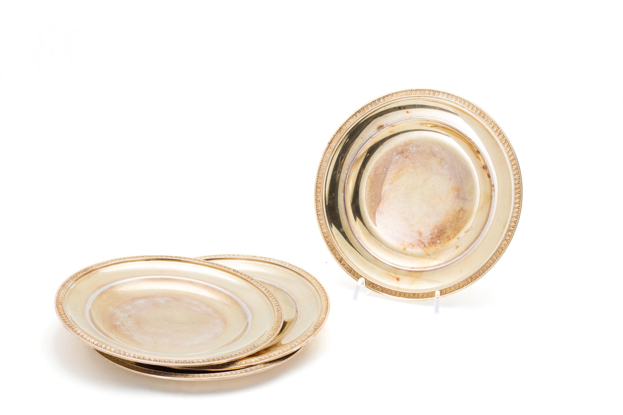 dodici piatti in argento dorato, Italia XX secolo