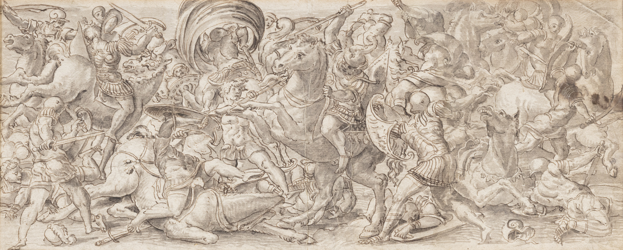 Fregio con scene di una battaglia di cavalieri