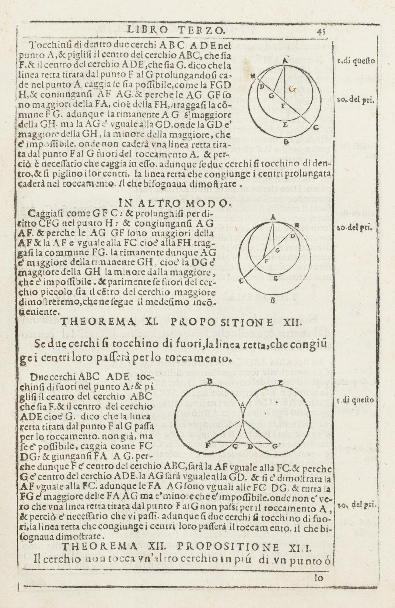 Degli elementi d'Euclide libri quindici. Con gli scholii antichi