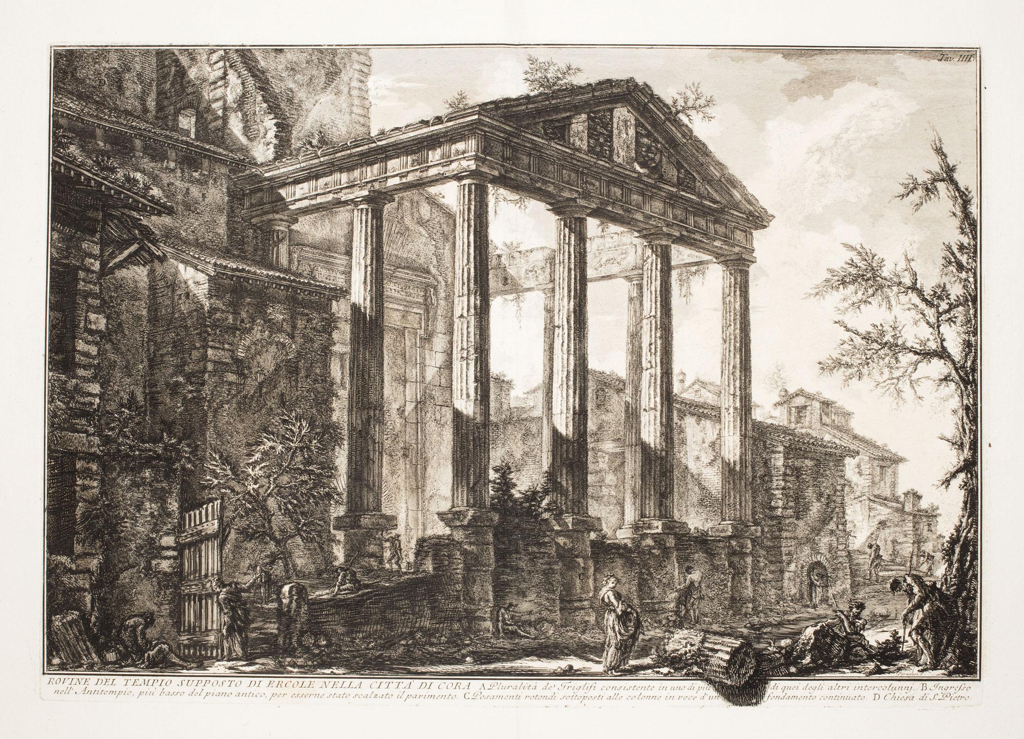 Rovine del Tempio supposto di Ercole nella Città di Cora