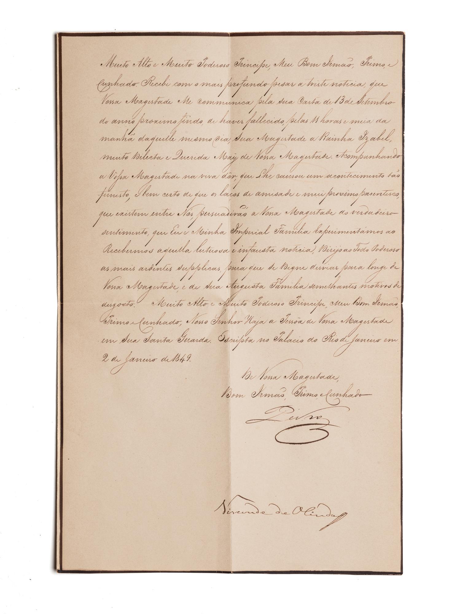 Lettera sottoscritta