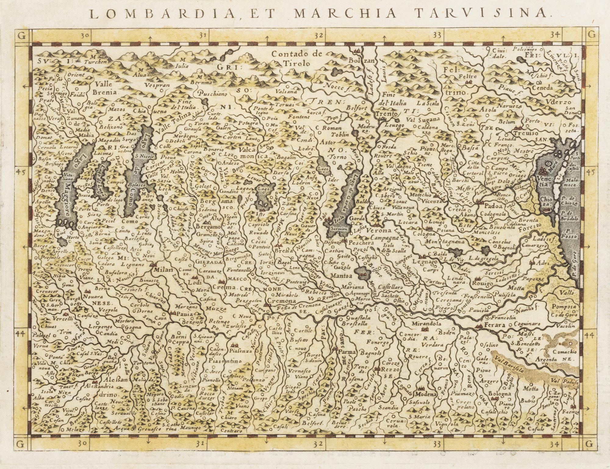 Pedemontium Monsferratus Et Liguria – Lombardia et marchia tarvisina