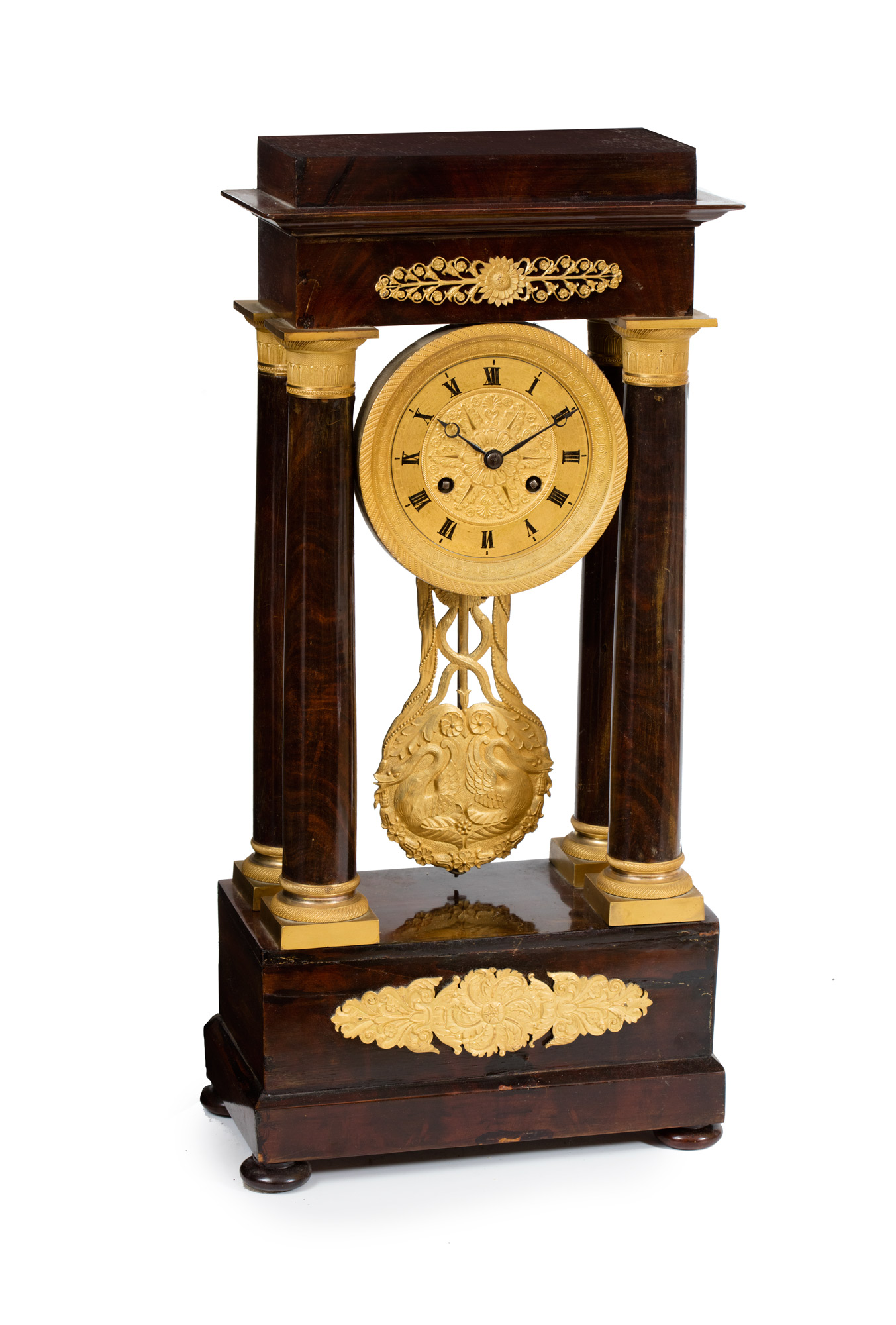 Orologio da tavolo con colonne, stile Impero