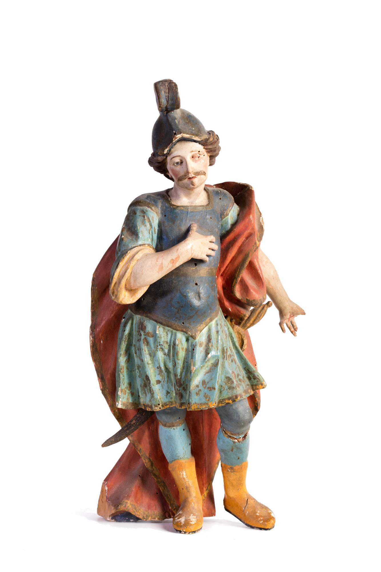 Scultura lignea policroma raffigurante san Longino