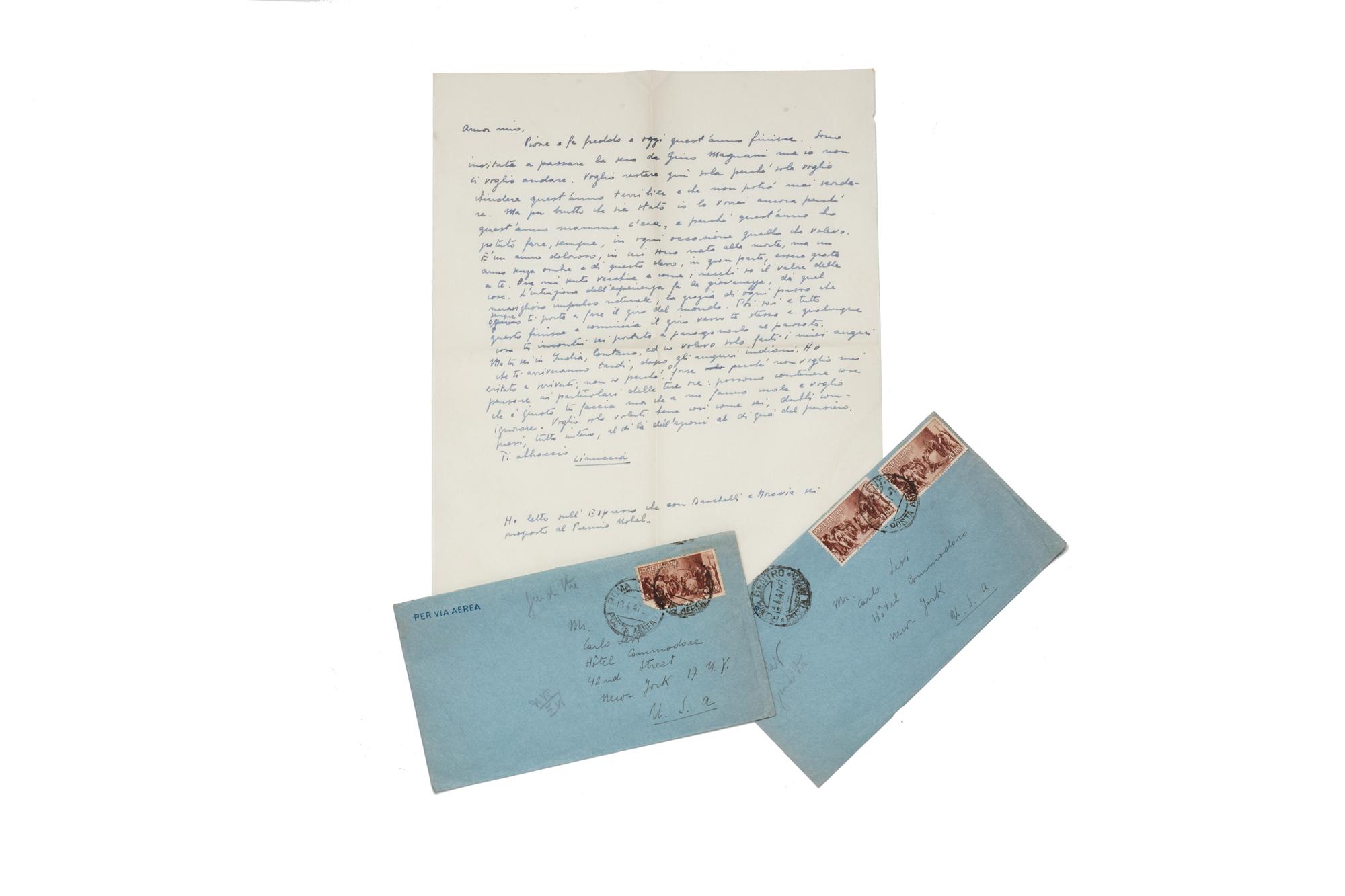 Lettere autografe a Carlo Levi
