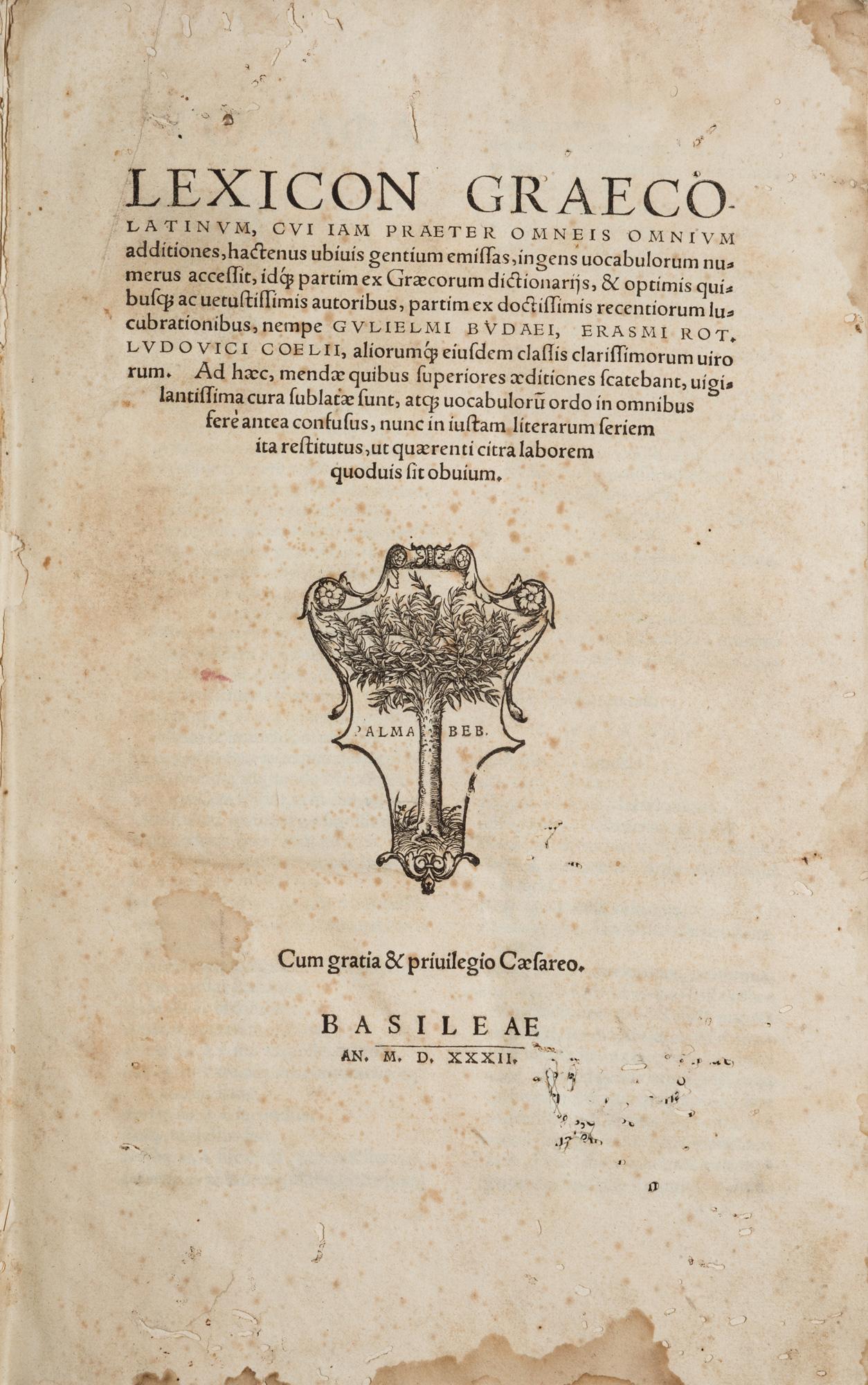 Lexicon graeco latinum