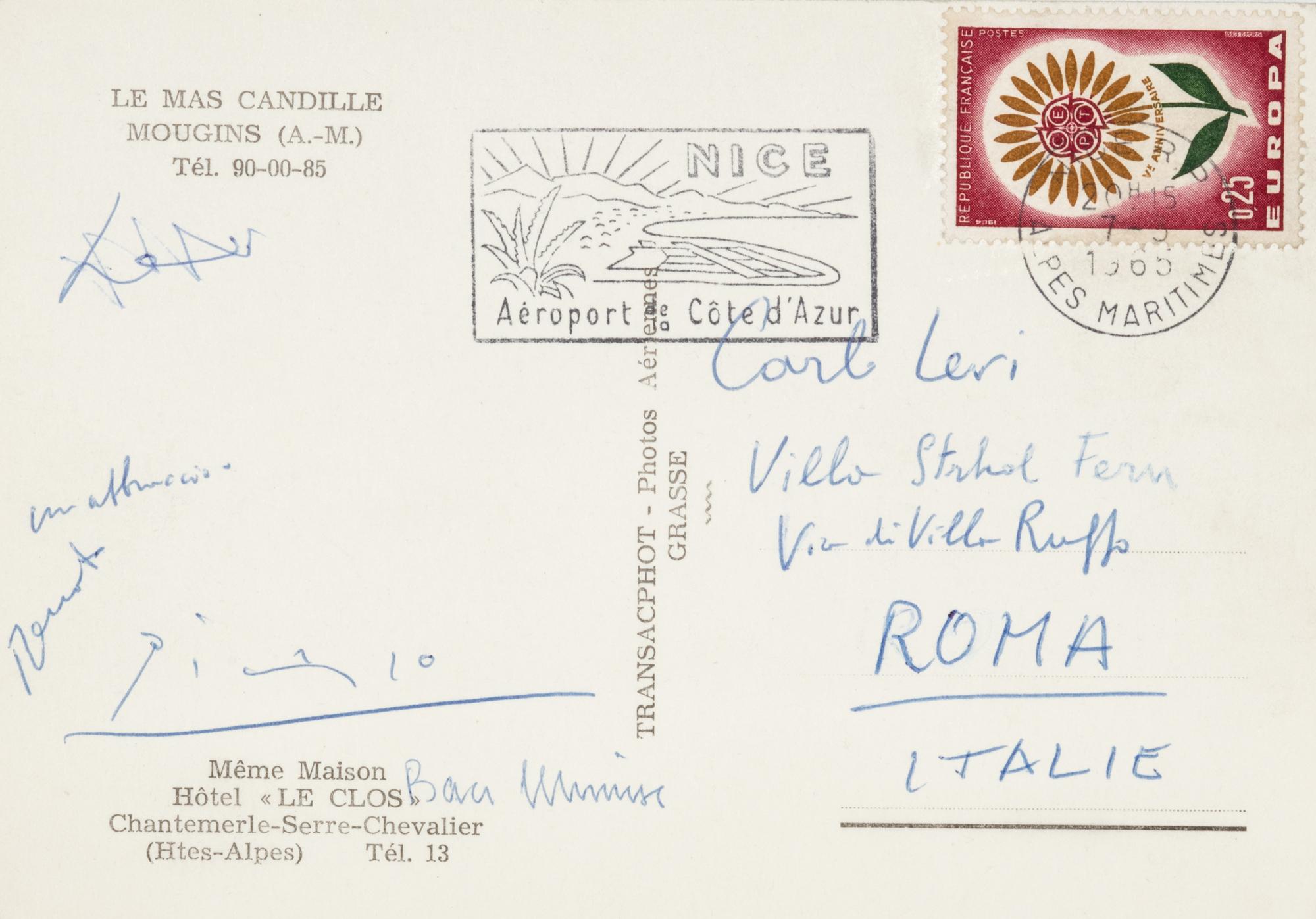 Cartolina con firma