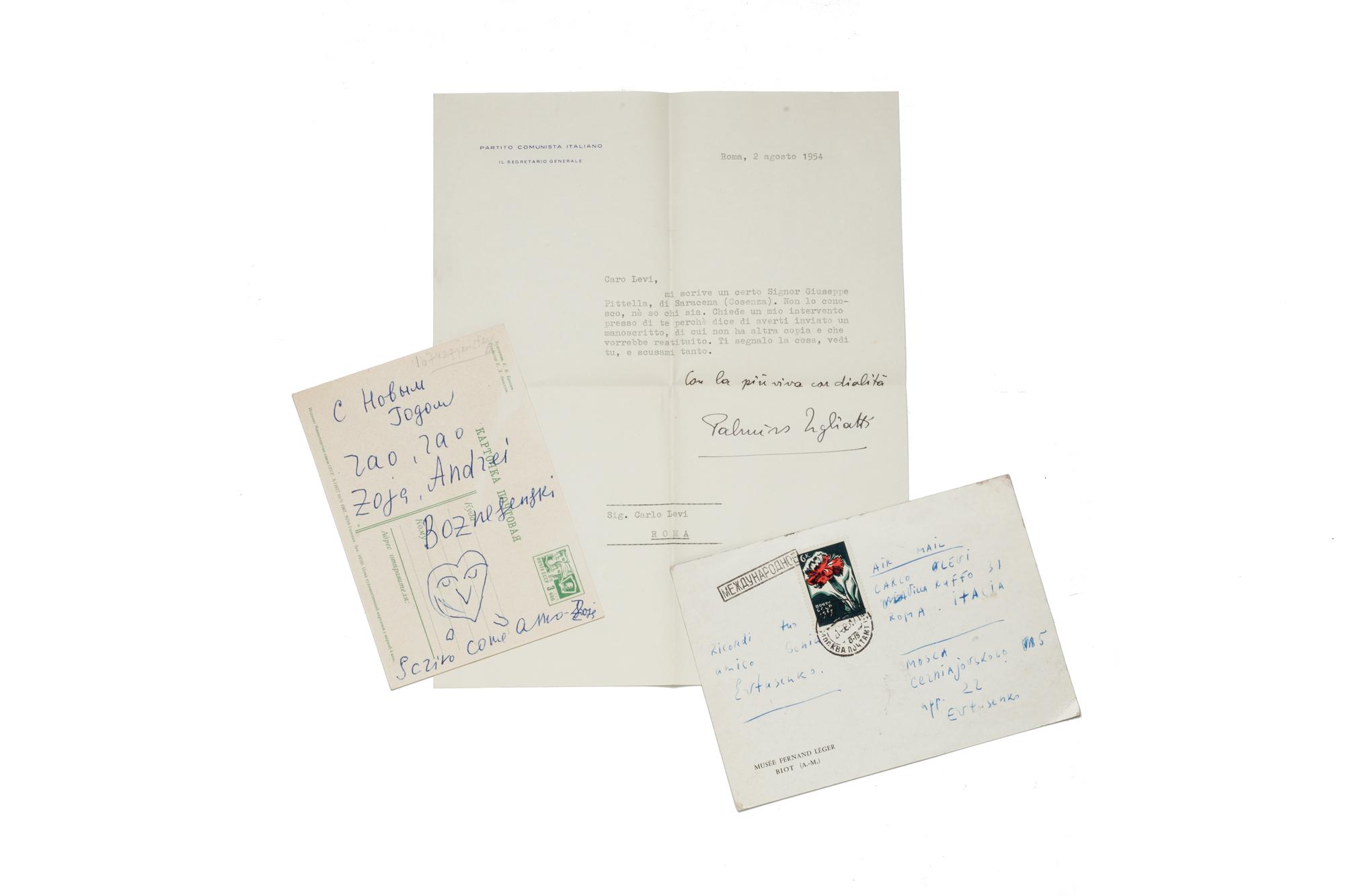 Lettera con firma autografa