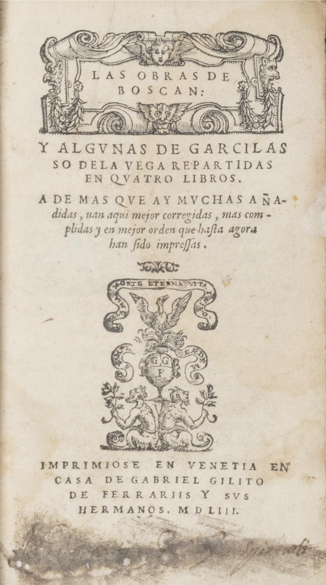 Las obras de Boscan y algunas de Garcilasso de la Vega repartidas en quatro libros