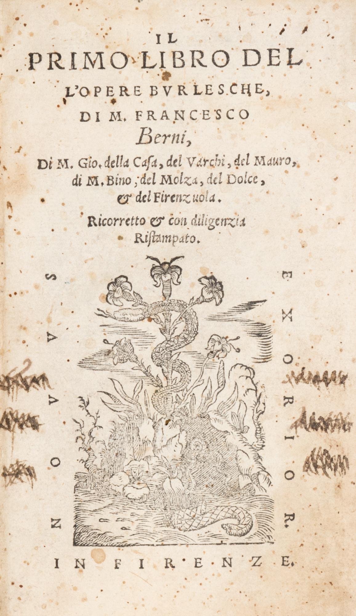 Il primo libro dell'Opere burlesche