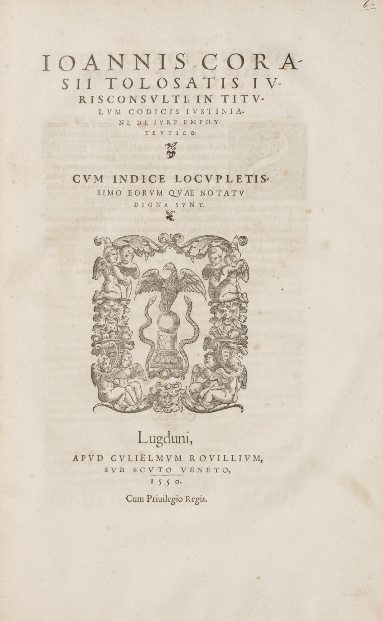 In nobilissimum titulum Pandectarum, De verbor. obligationibus, scholia