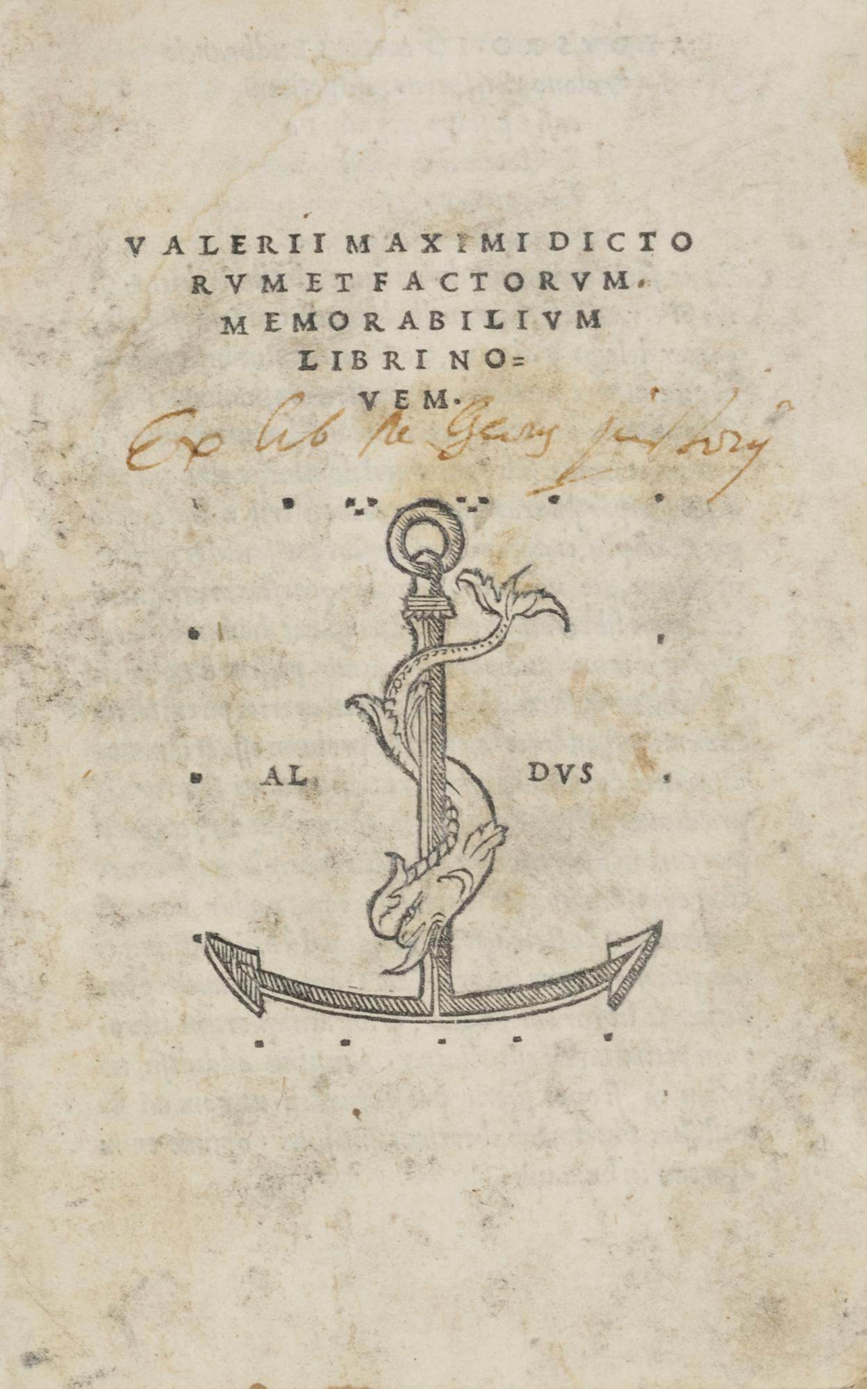 Dictorum et factorum memorabilium libri nouem