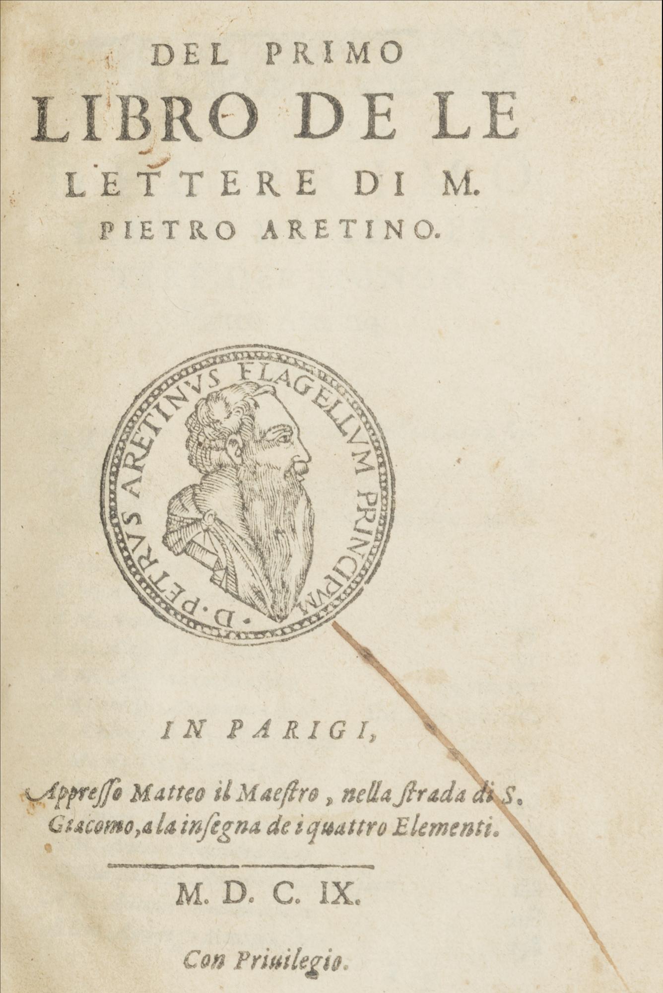 Del primo libro de le lettere