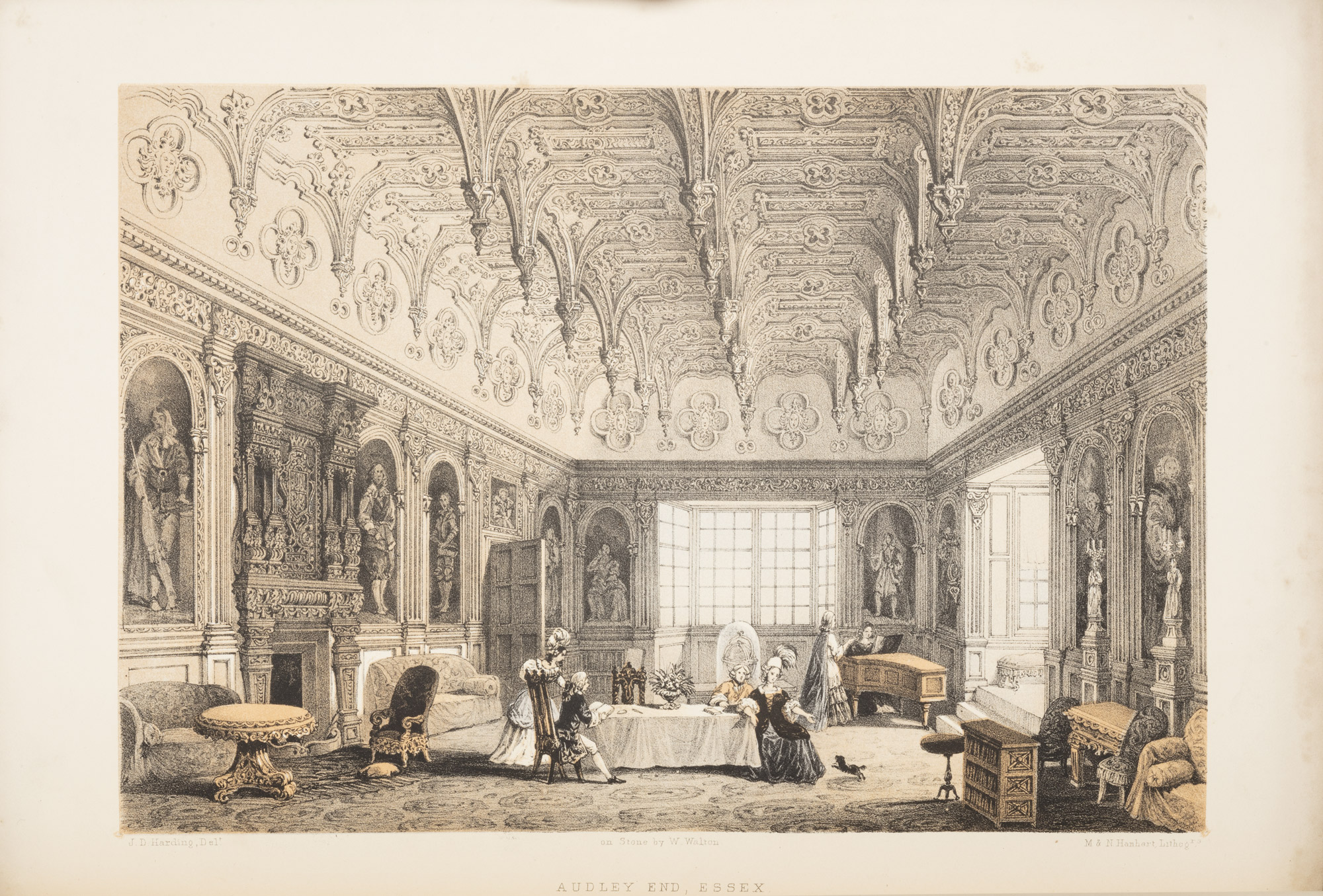 The Baronial Halls and ancient picturesque edifices of England