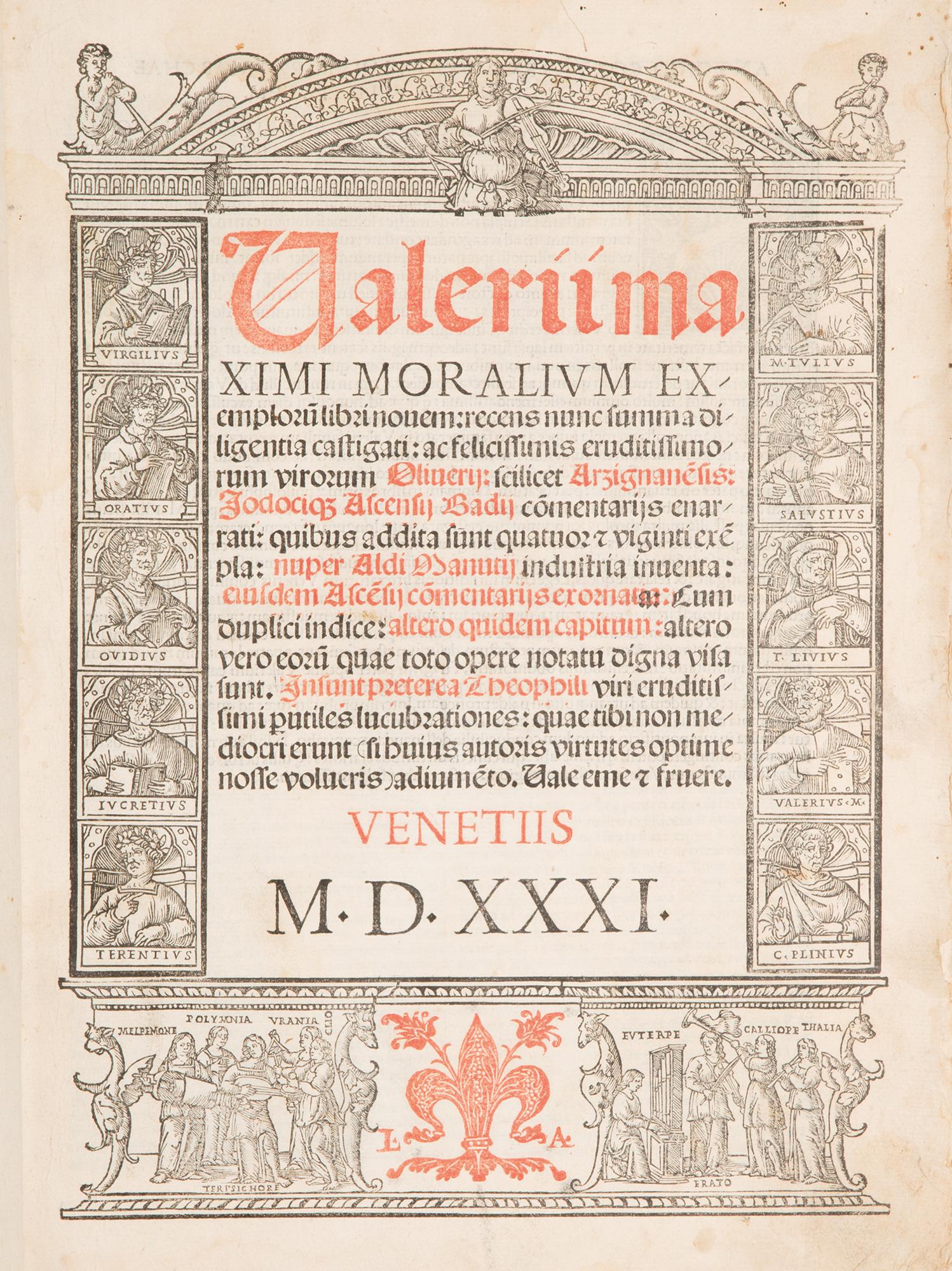 Valerii Maximi Moralium exemplorum libri nouem