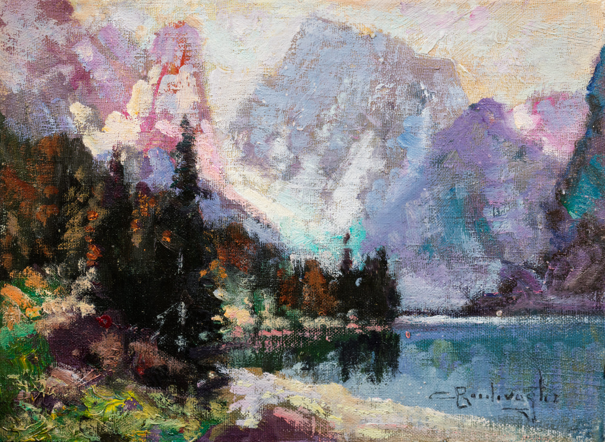 Paesaggio dolomitico con lago