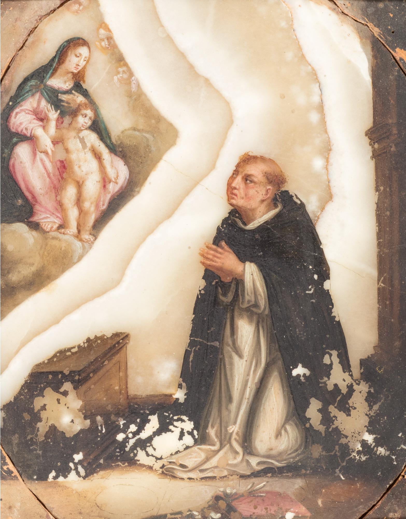 La Madonna col Bambino e Cherubini appaiono a san Domenico