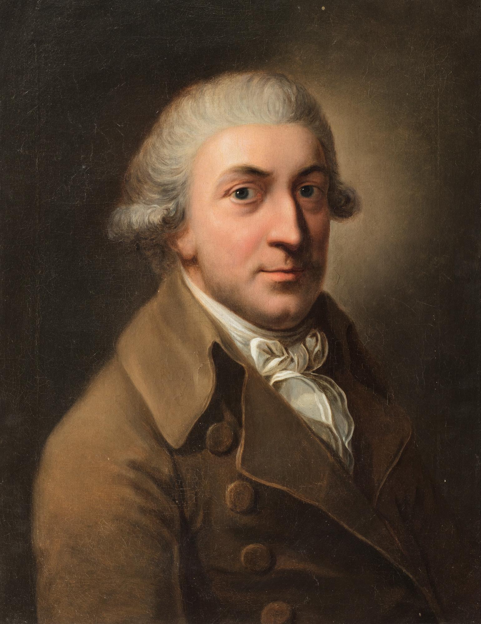 Ritratto di gentiluomo a mezzo busto, con parrucca bianca