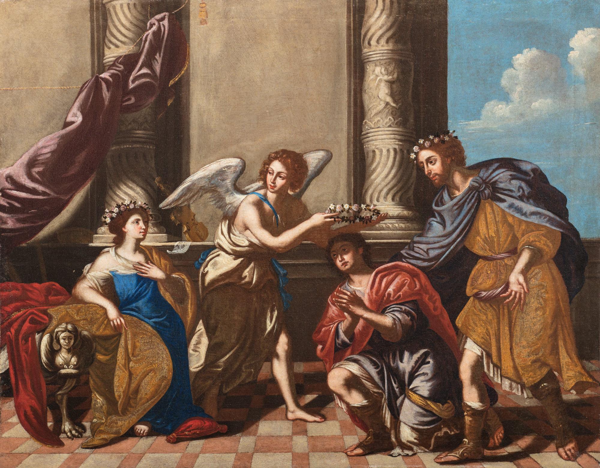 Conversione dei santi Cecilia, Valeriano e Tiburzio