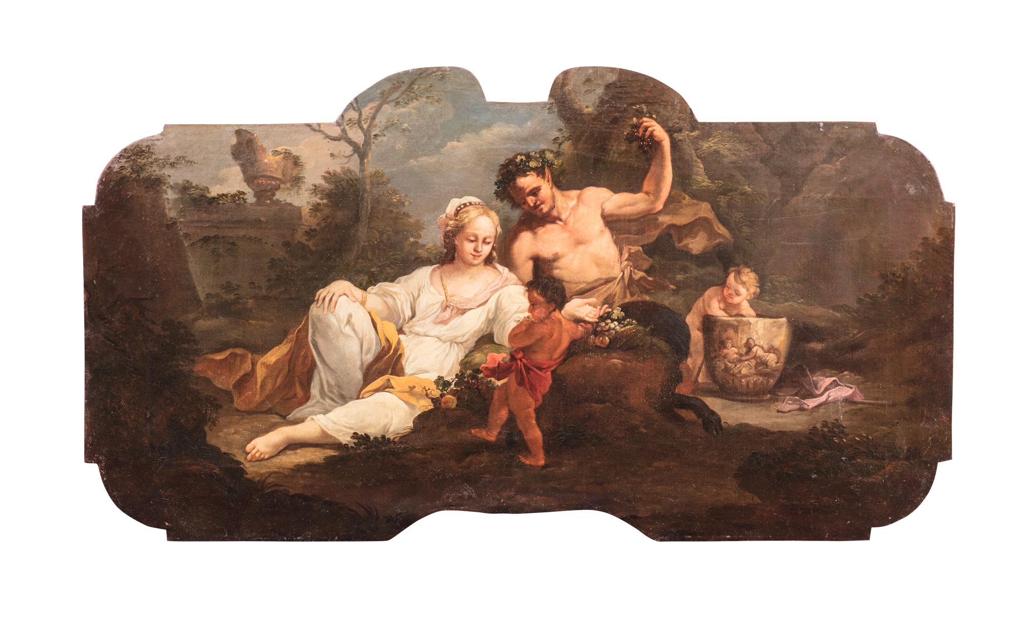 Scena bacchica con ninfa, centauro e putti