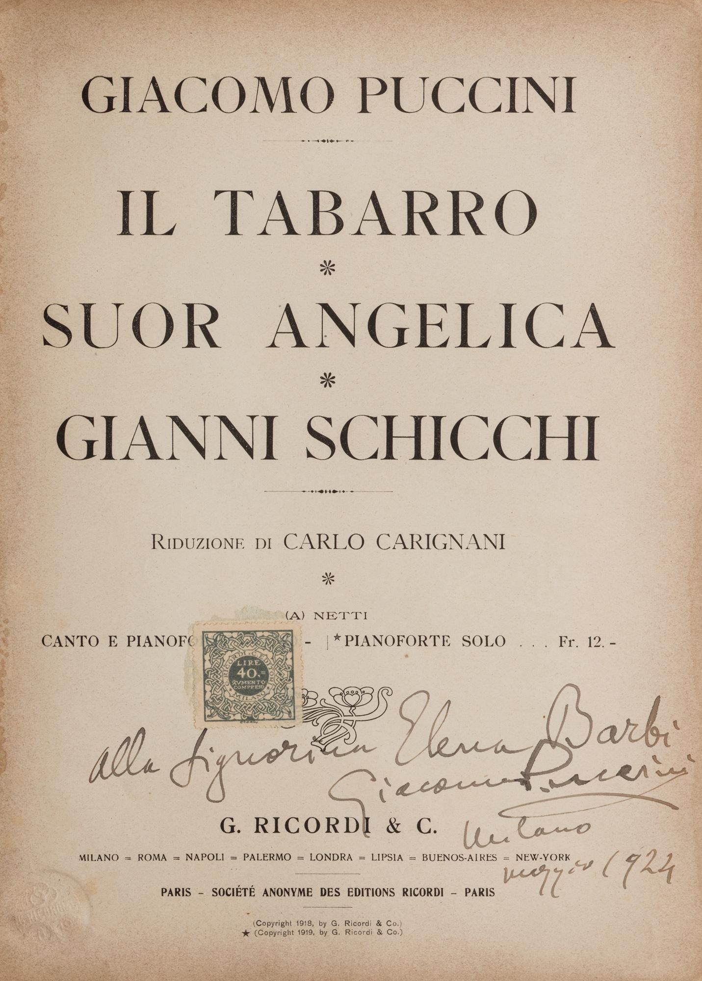 Il Tabarro – Suor Angelica – Gianni Schicchi