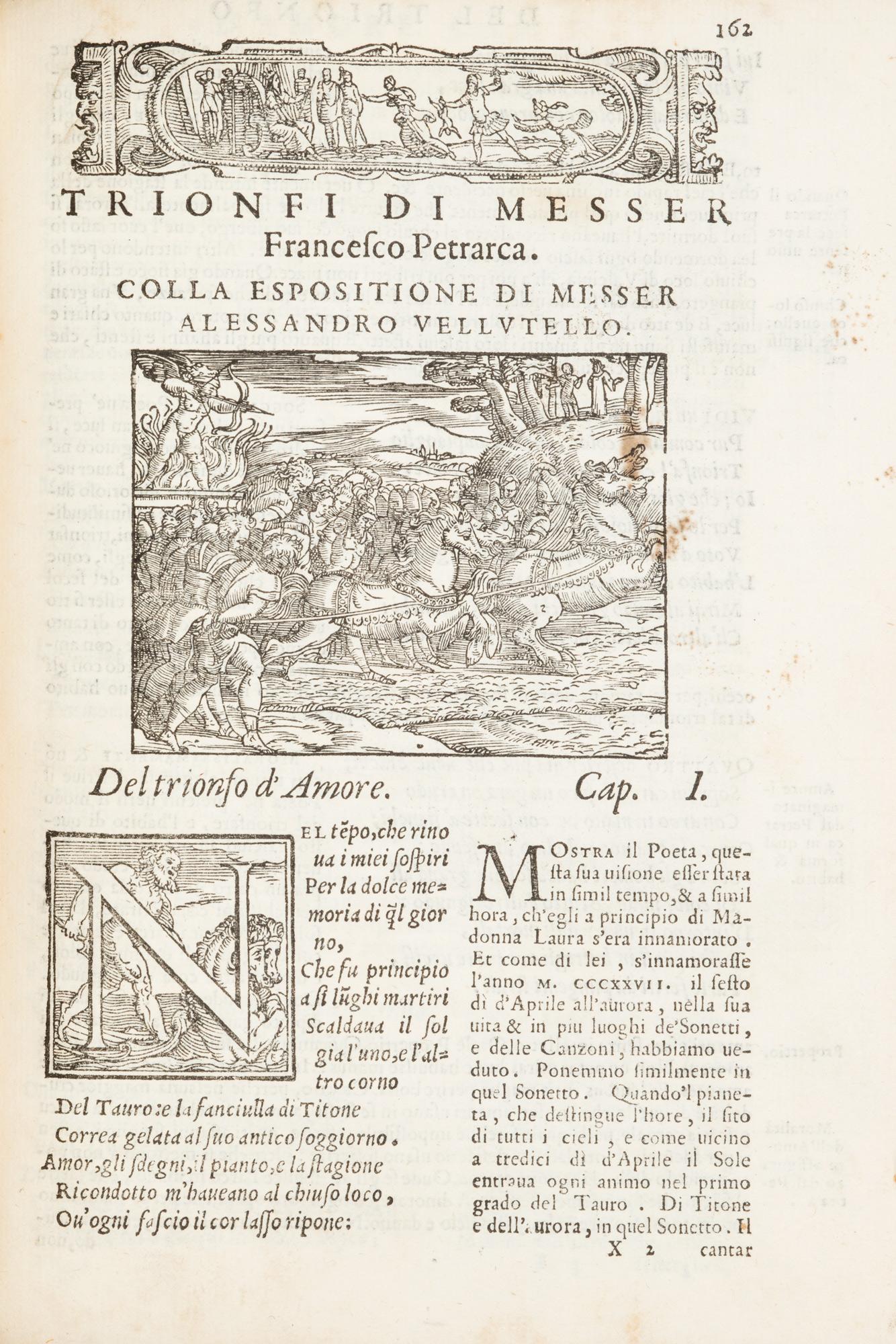 Il Petrarca con l'espositione di M. Alessandro Vellutello
