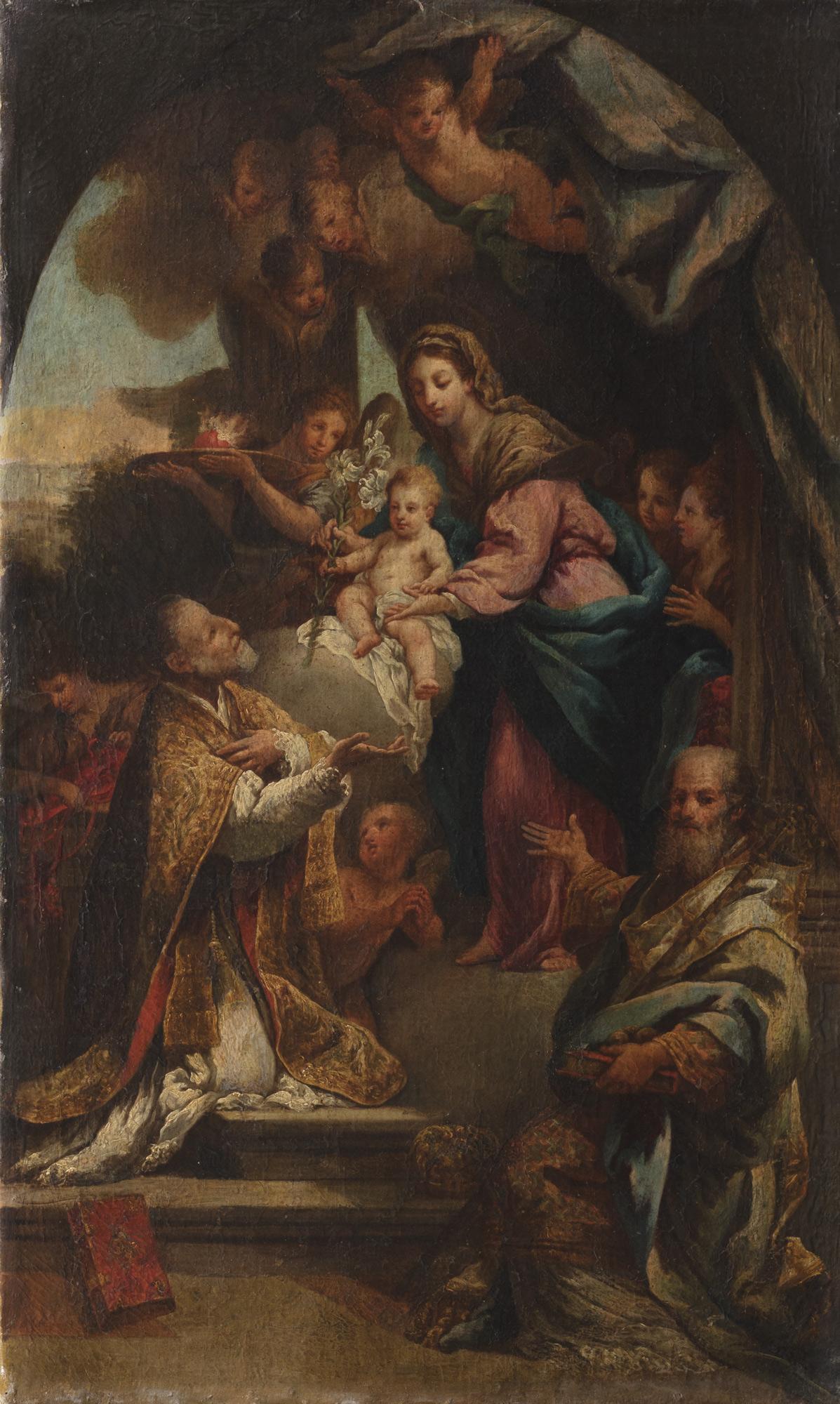 Madonna con Bambino appare a san Filippo Neri e san Nicola di Bari
