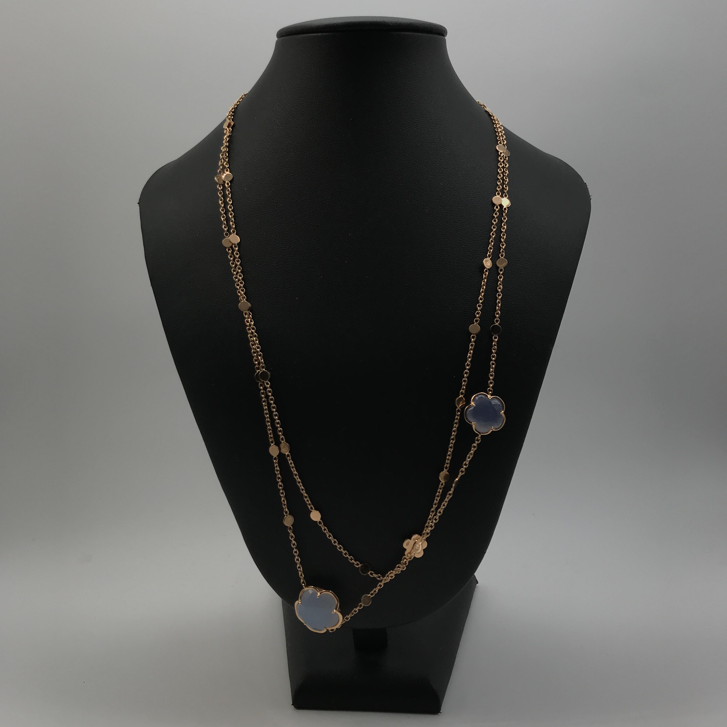 collana in oro 18kt e pietre colorate